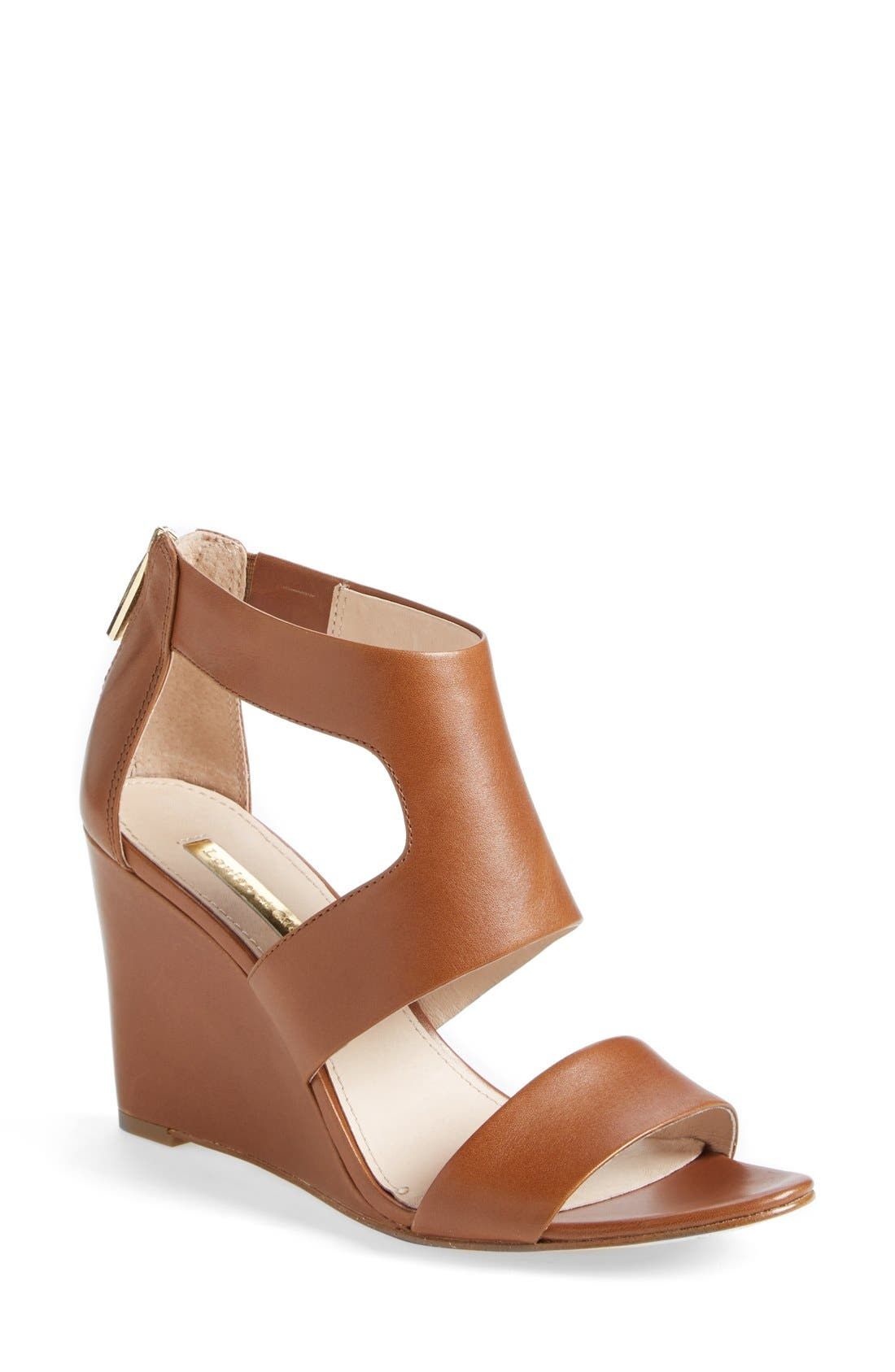 Alternate Image 1 Selected - Louise et Cie 'Rozza' Leather Wedge Sandal (Women)