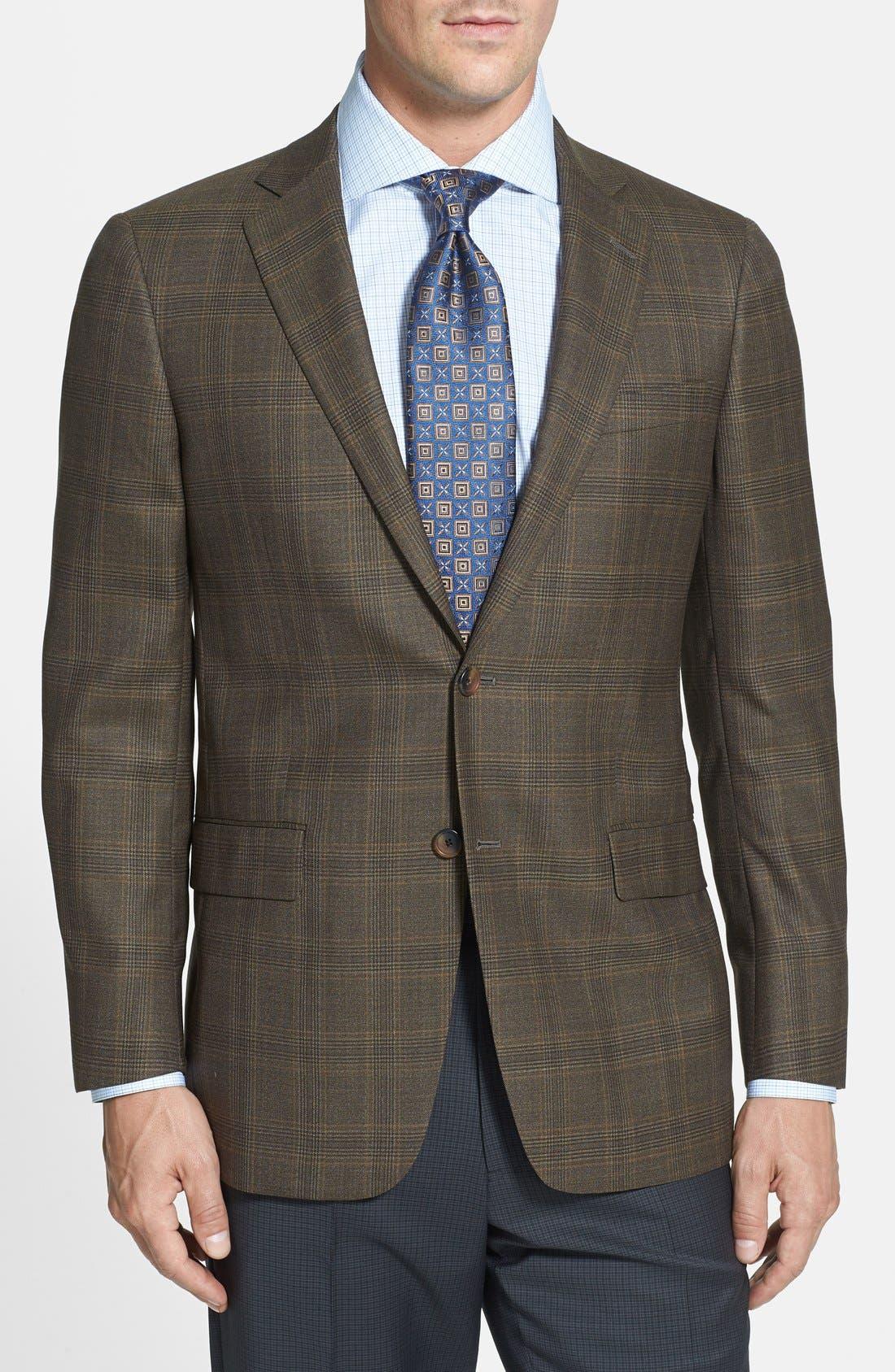 Alternate Image 1 Selected - Hart Schaffner Marx 'New York' Classic Fit Plaid Sport Coat