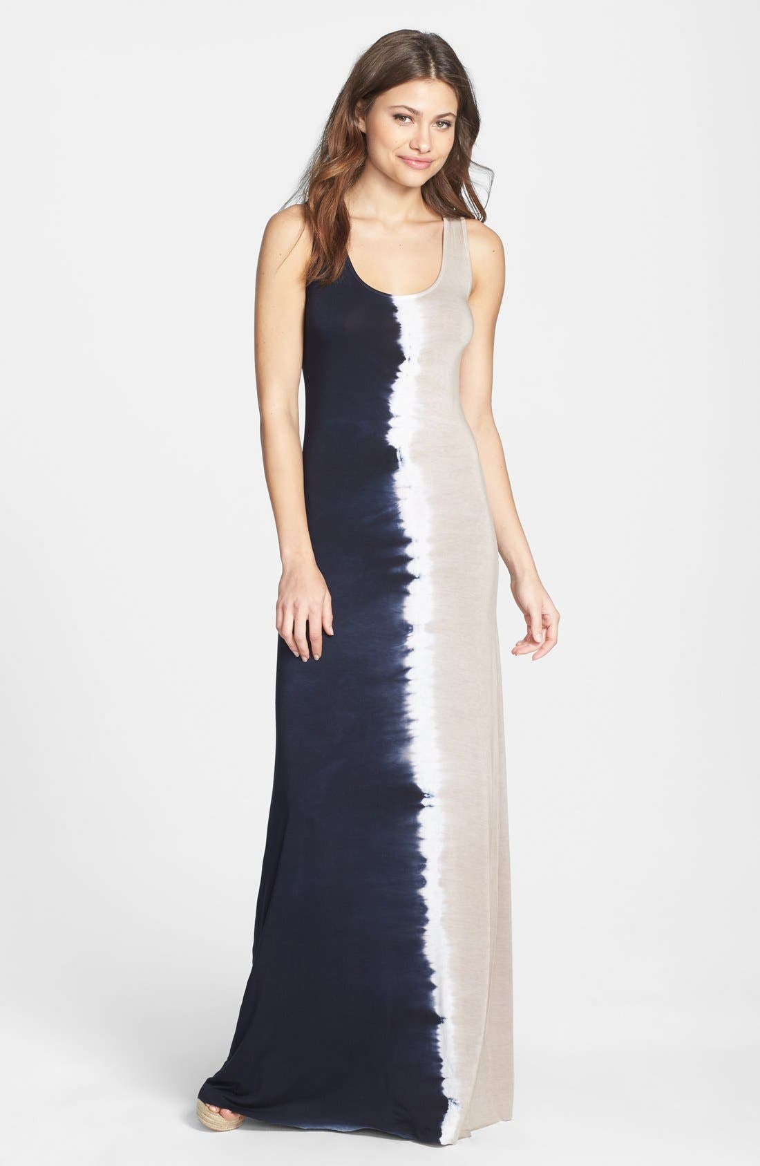 Main Image - Felicity & Coco Tie Dye Jersey Maxi Dress (Petite) (Nordstrom Exclusive)