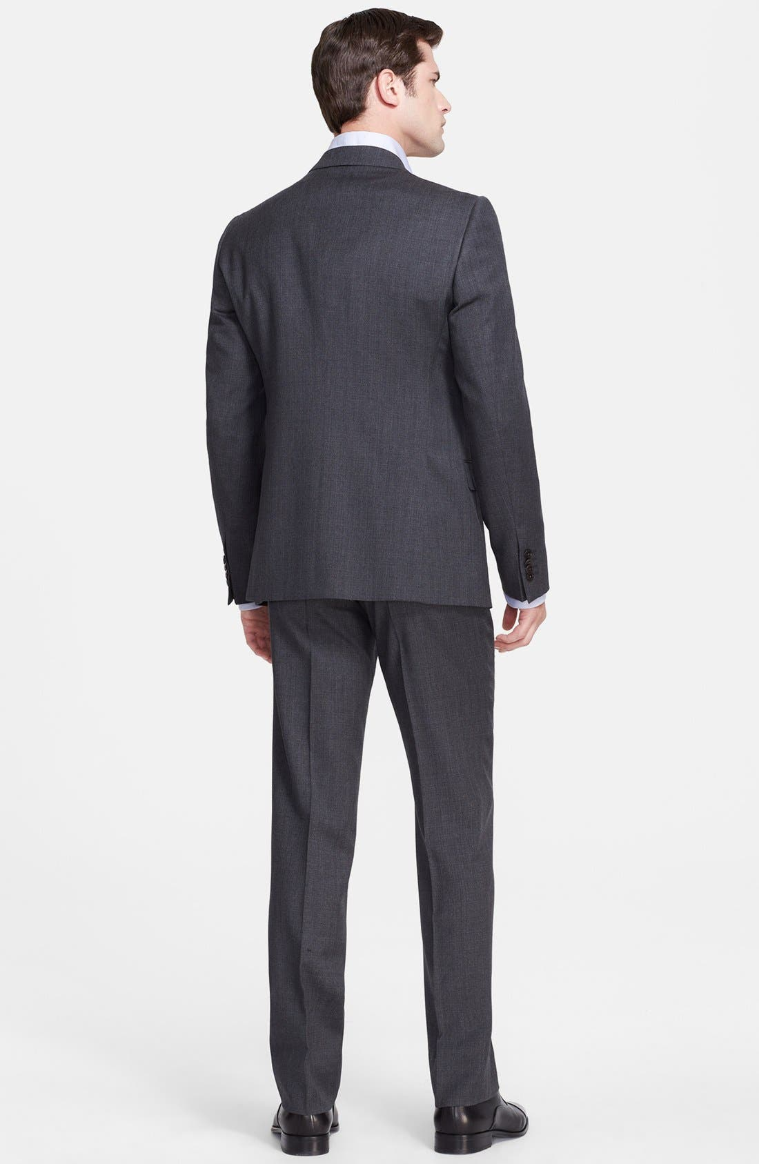 Alternate Image 2  - Armani Collezioni 'Sartorial' Grey Wool Suit