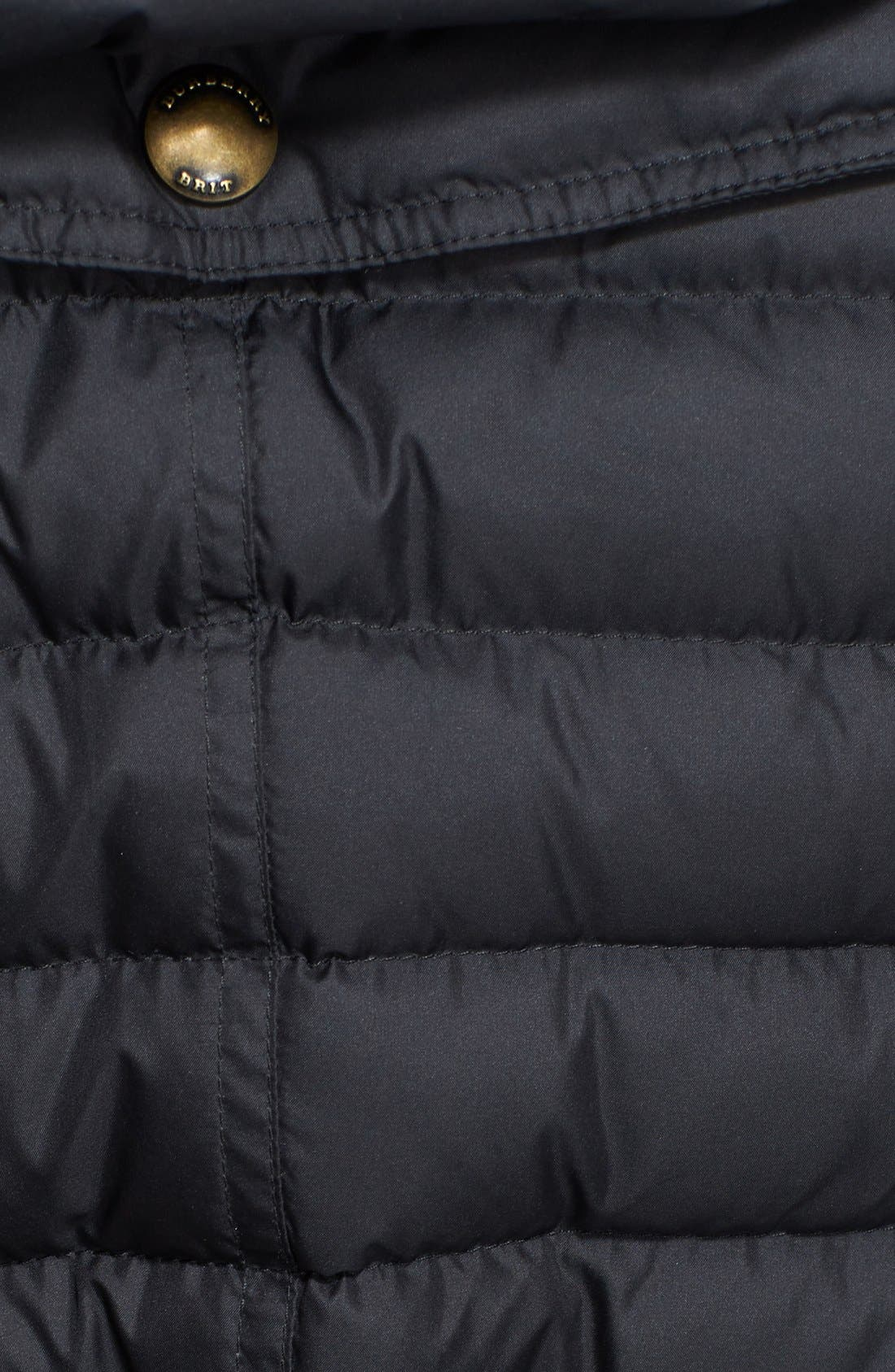 Alternate Image 3  - Burberry Brit 'Cornsdale' Channel Quilt Down Jacket with Hood