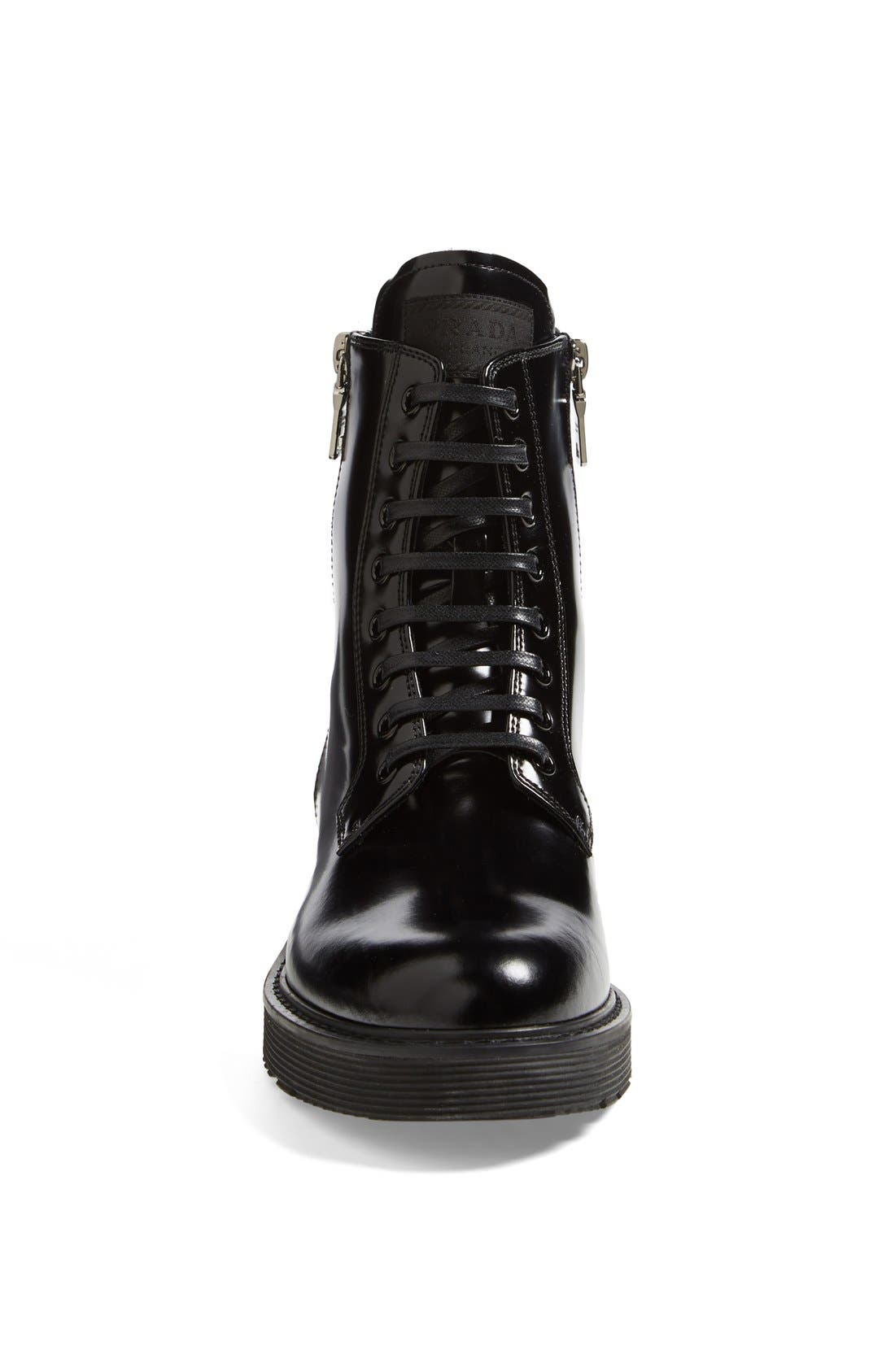 Alternate Image 3  - Prada Lace-Up Short Boot (Women)