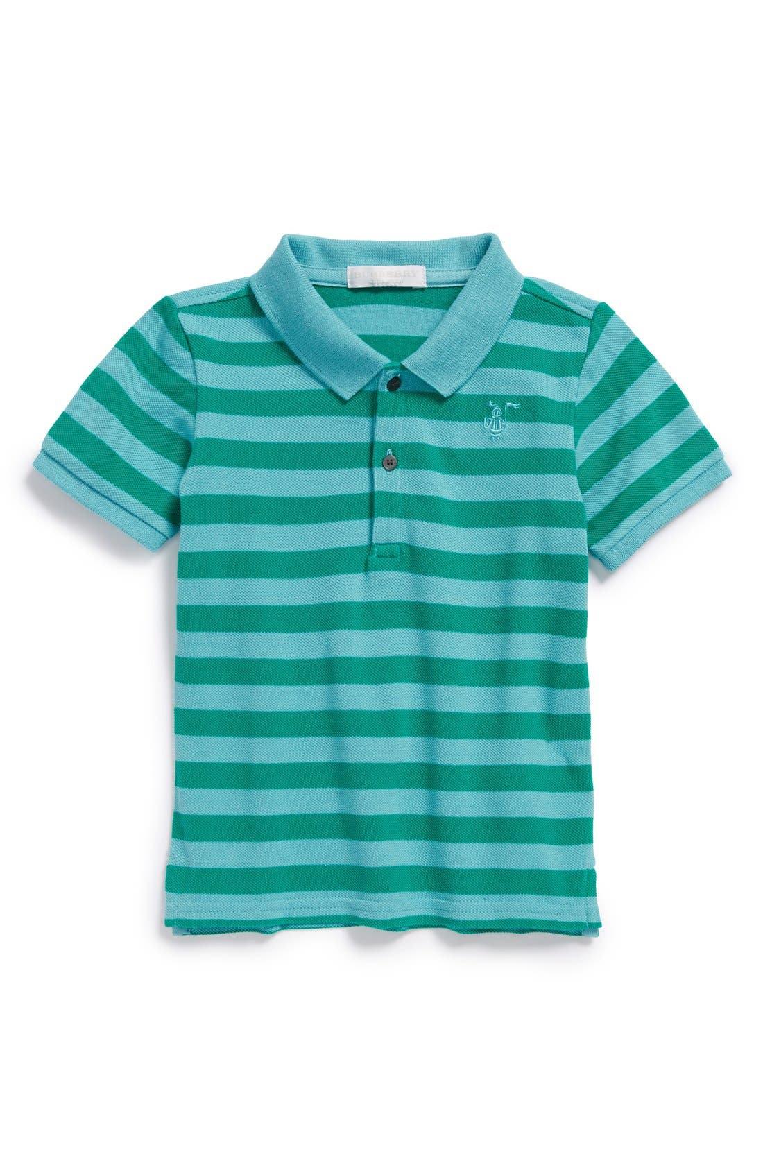 Main Image - Burberry Stripe Polo (Toddler Boys)