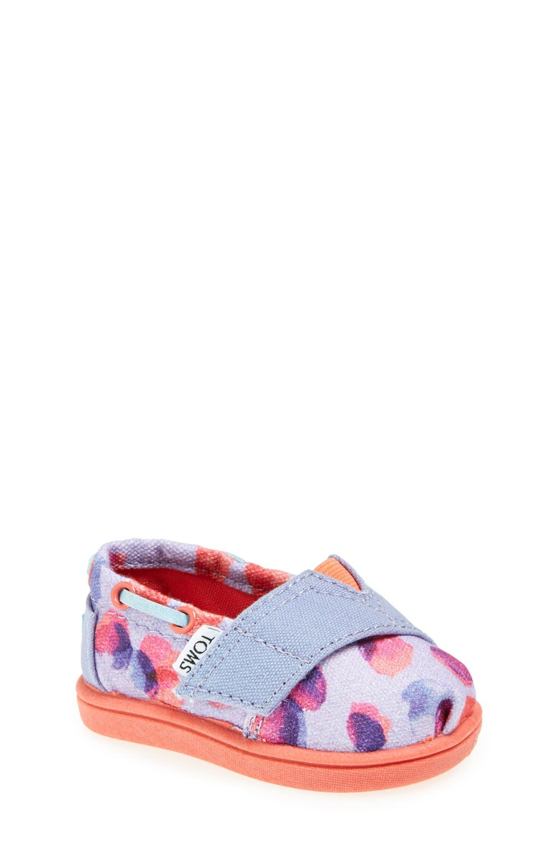 Alternate Image 1 Selected - TOMS 'Bimini Tiny - Water Dot' Slip-On (Baby, Walker & Toddler)
