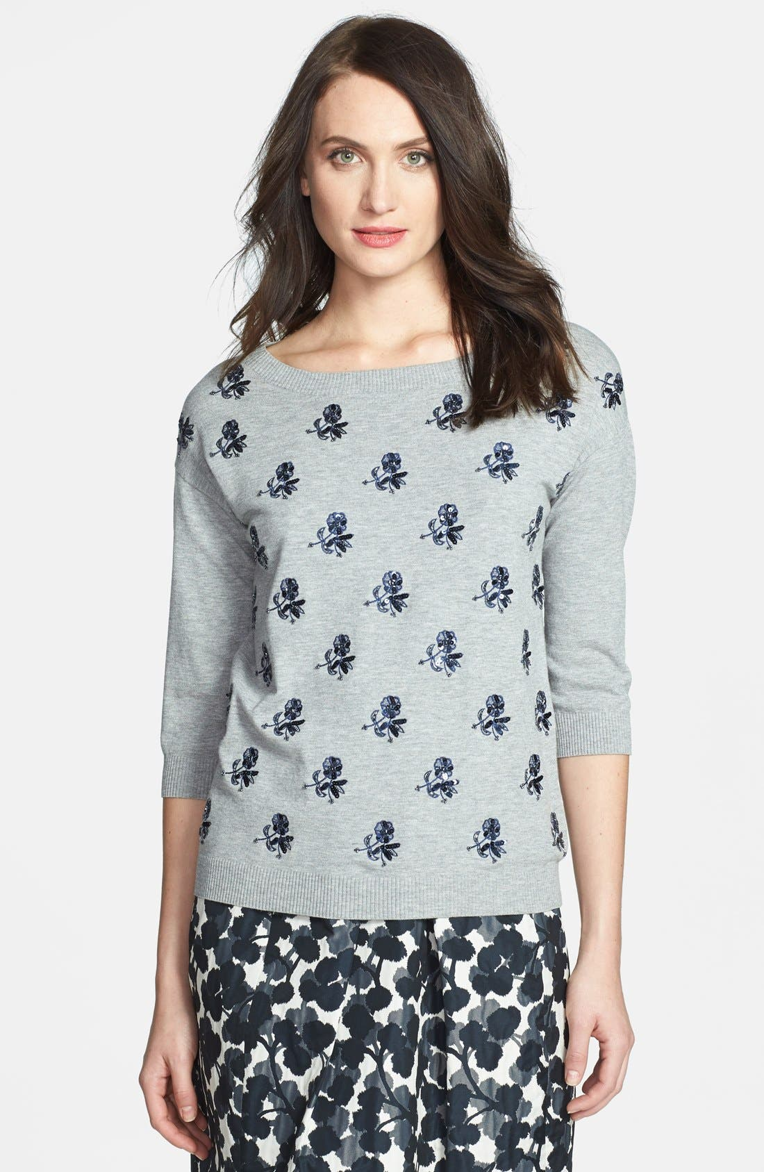 Main Image - Weekend Max Mara 'Pandora' Sequin Embroidered Sweater