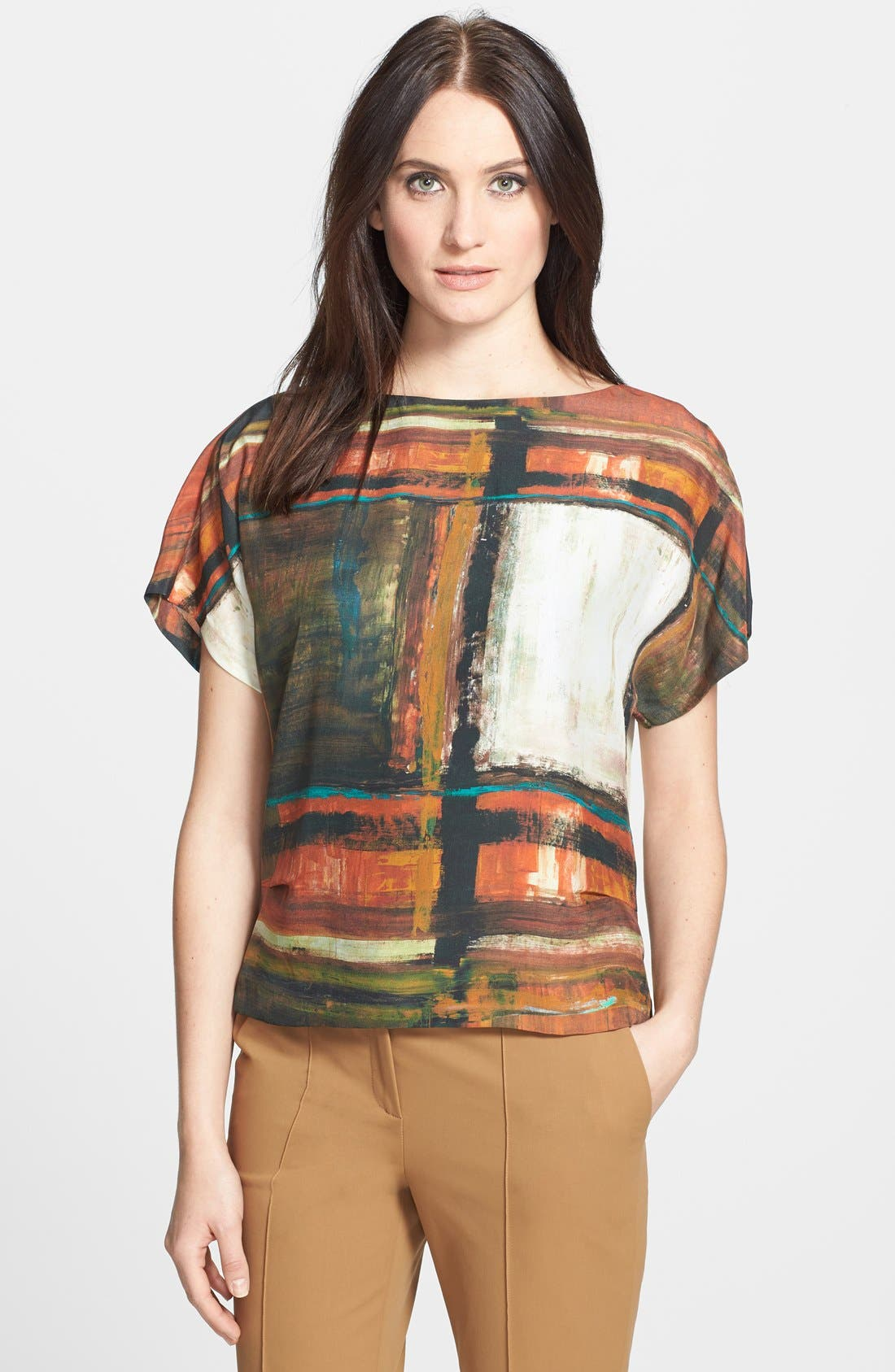 Alternate Image 1 Selected - Lafayette 148 New York 'Shauna - Expressionist' Blouse