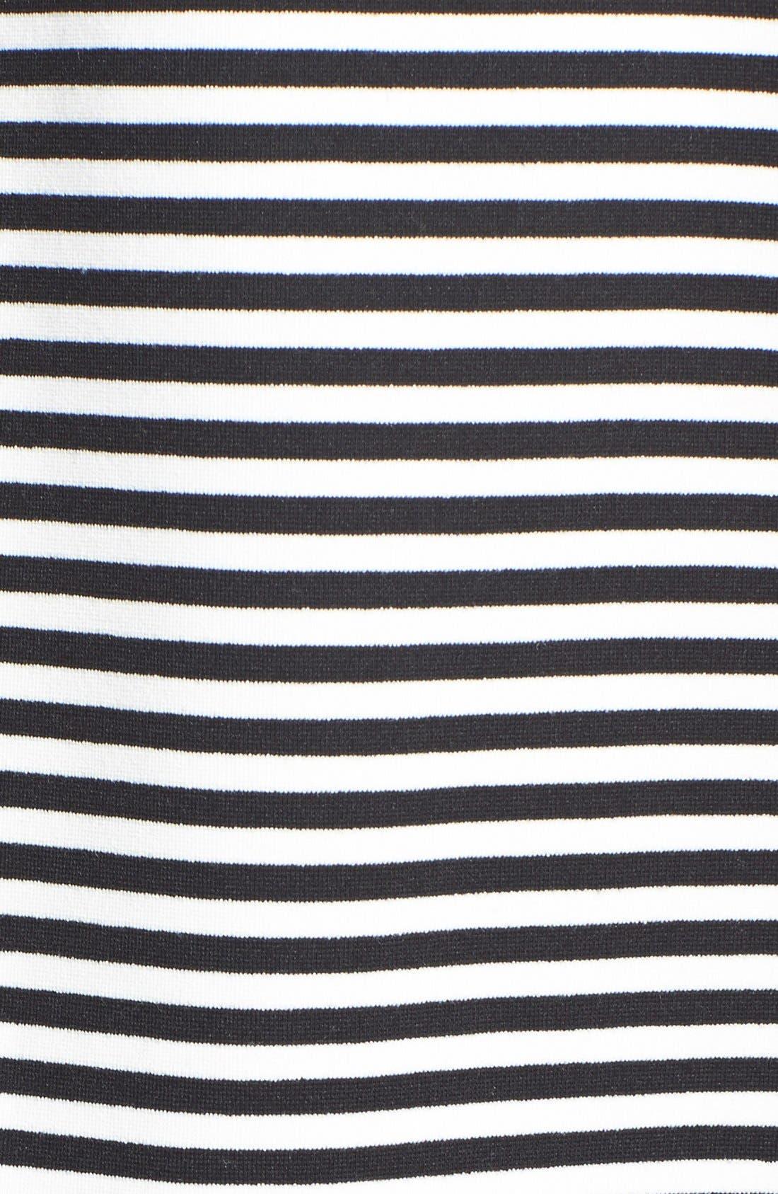 Alternate Image 3  - ABS by Allen Schwartz Mesh Inset Stripe Fit & Flare Dress (Plus Size)