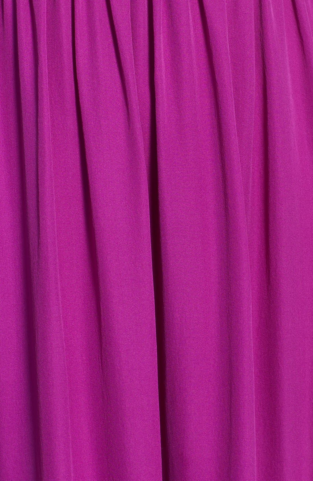 Alternate Image 3  - Nicole Miller Stitch Detail Silk Maxi Dress