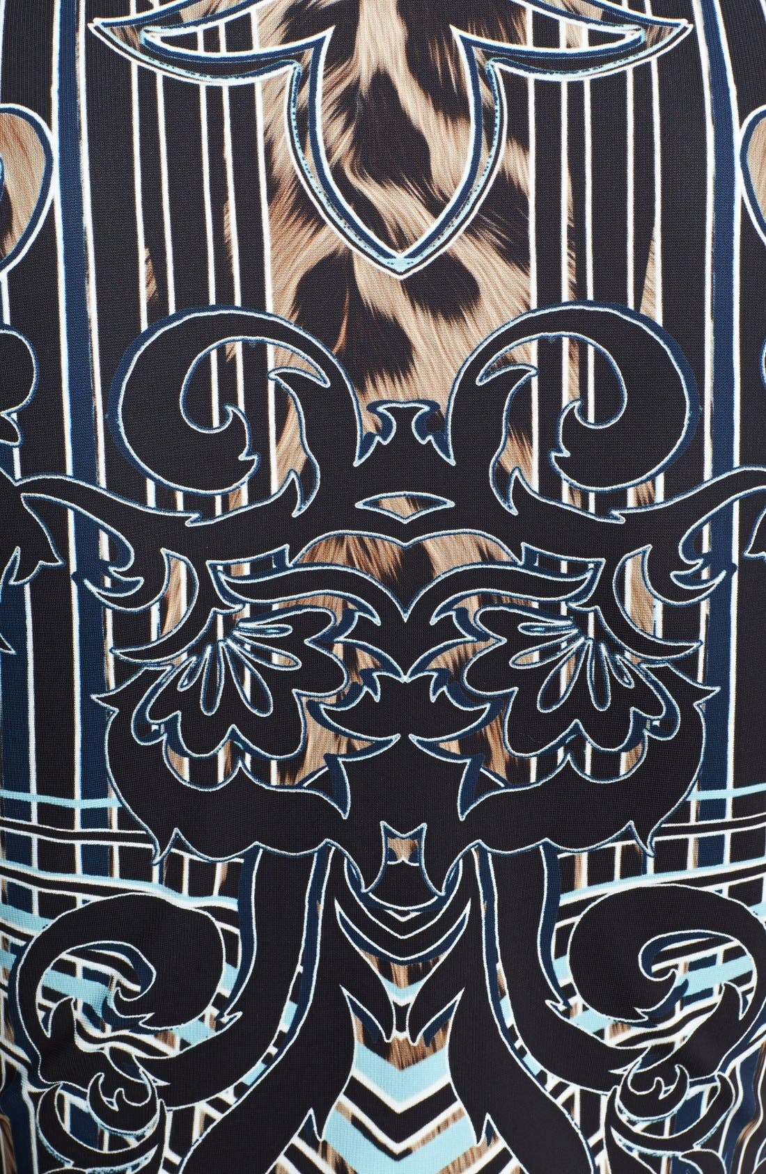Alternate Image 3  - Roberto Cavalli Leopard Deco Print Dress
