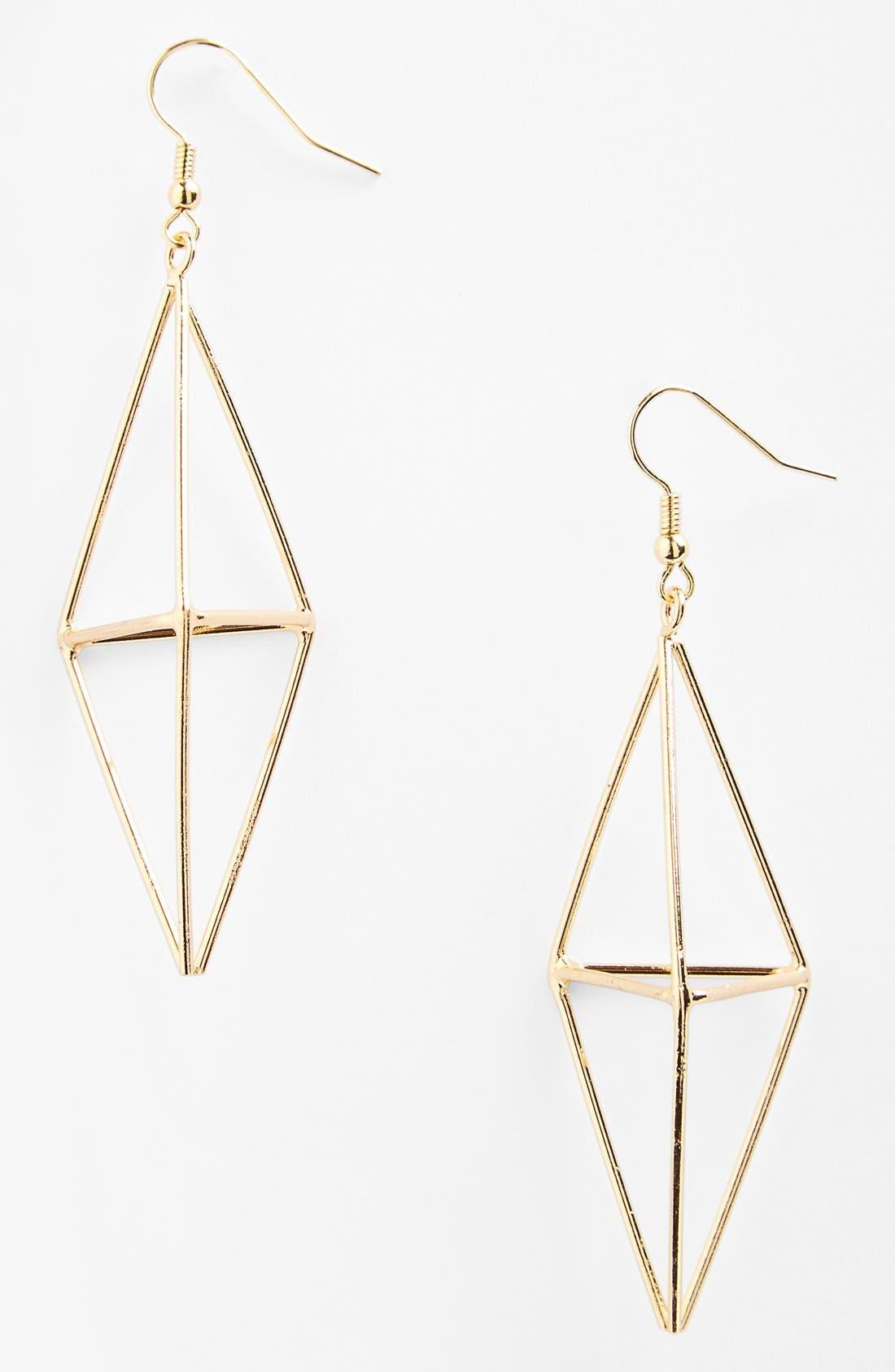 Alternate Image 1 Selected - Guinevere Metal Pyramid Earrings