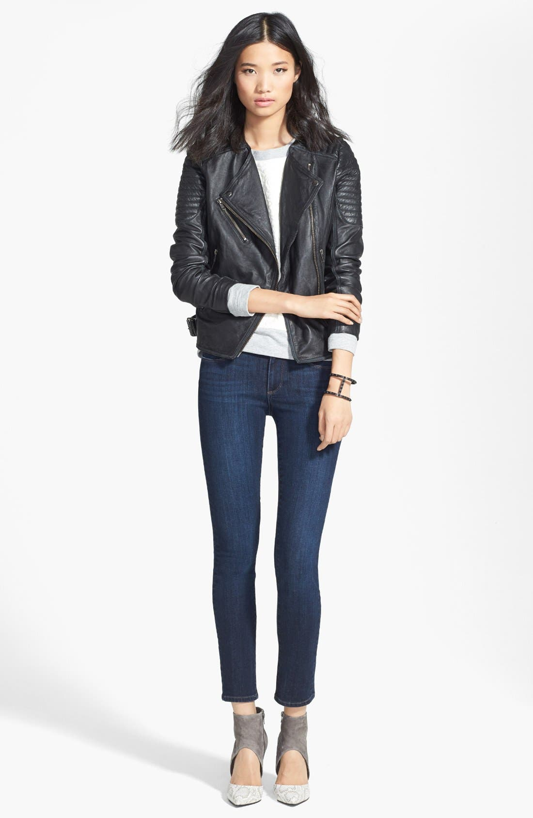Alternate Image 4  - Paige Denim 'Skyline' Ankle Peg Skinny Jeans (Dixie) (Nordstrom Exclusive)