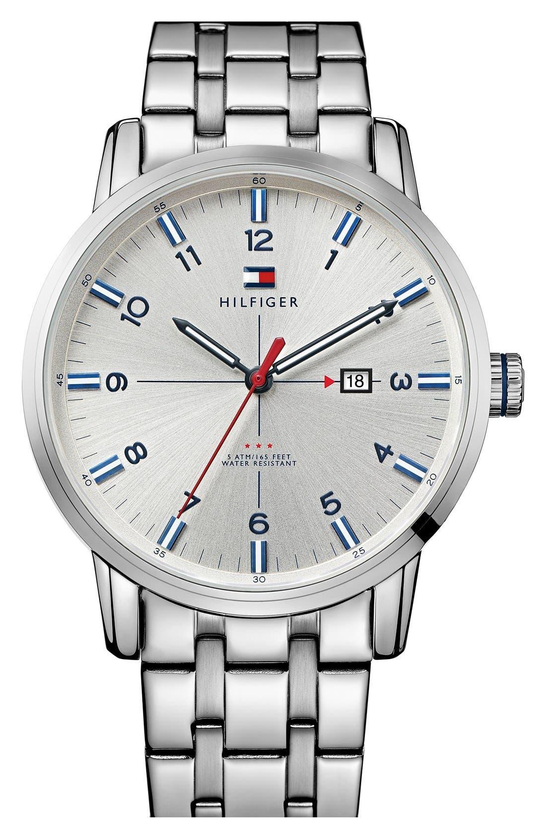 Main Image - Tommy Hilfiger Round Bracelet Watch, 44mm