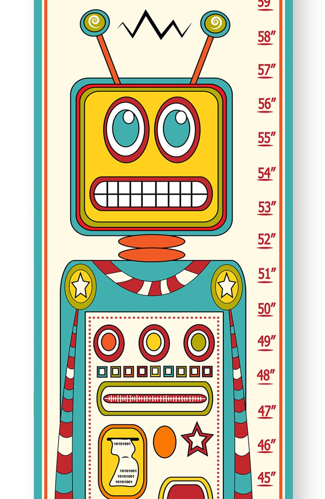 Alternate Image 2  - Stupell 'Robot' Personalized Growth Chart