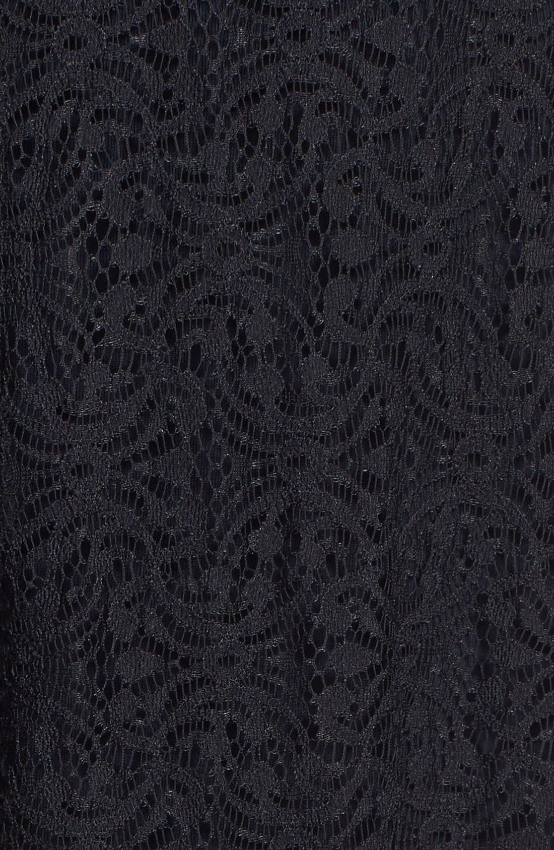 Alternate Image 3  - Tildon Floral Print Lace Maxi Dress