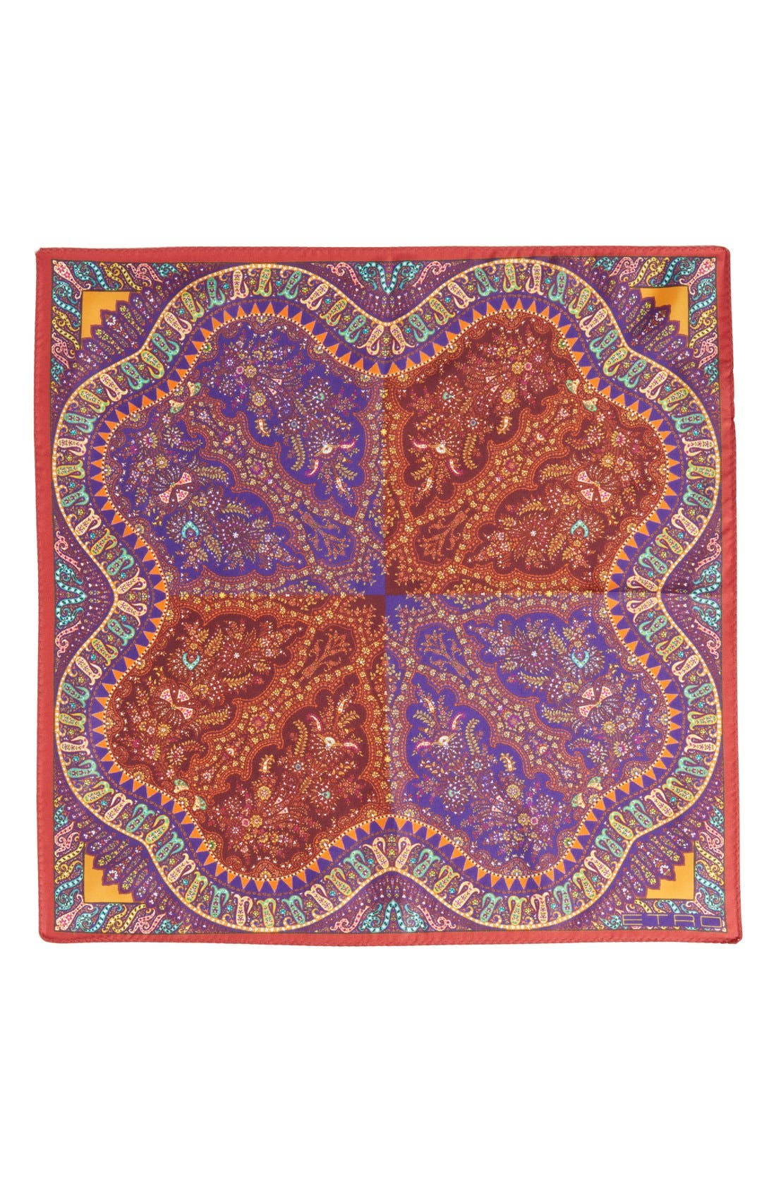 Alternate Image 2  - Etro Print Silk Pocket Square