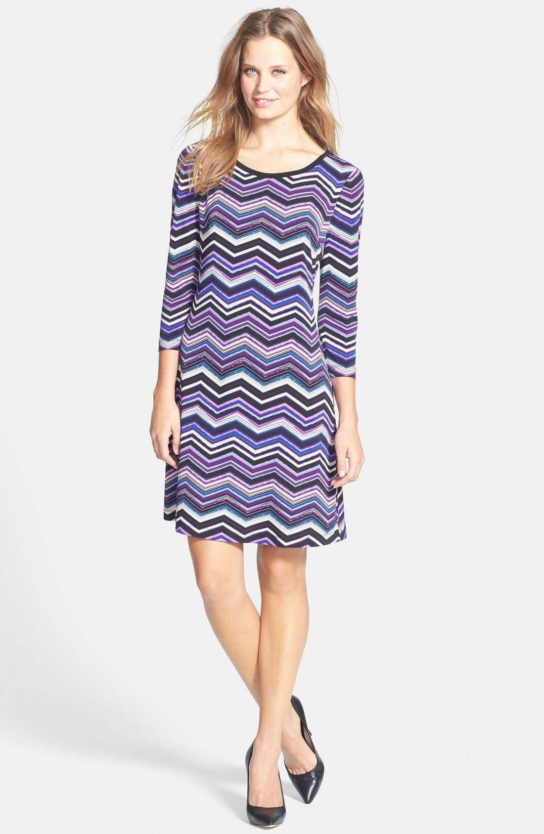 Alternate Image 3  - Eliza J Zigzag Print A-Line Dress (Petite)