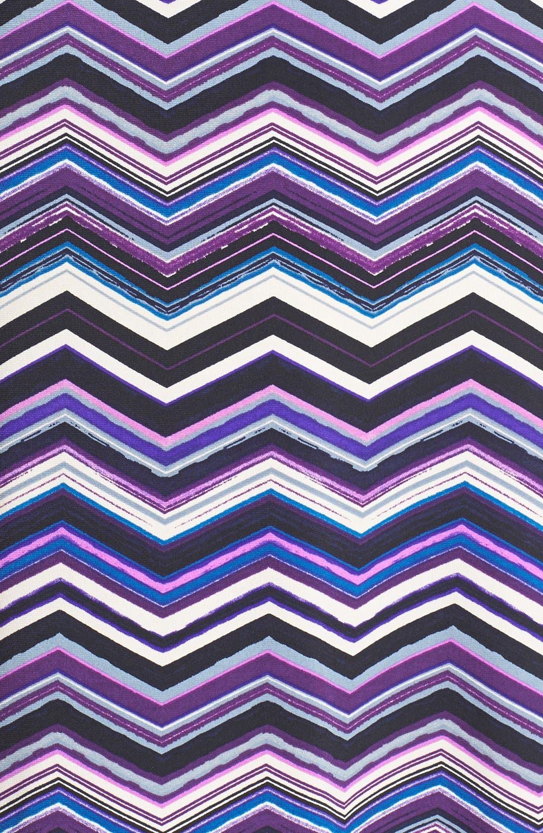 Alternate Image 4  - Eliza J Zigzag Print A-Line Dress (Petite)