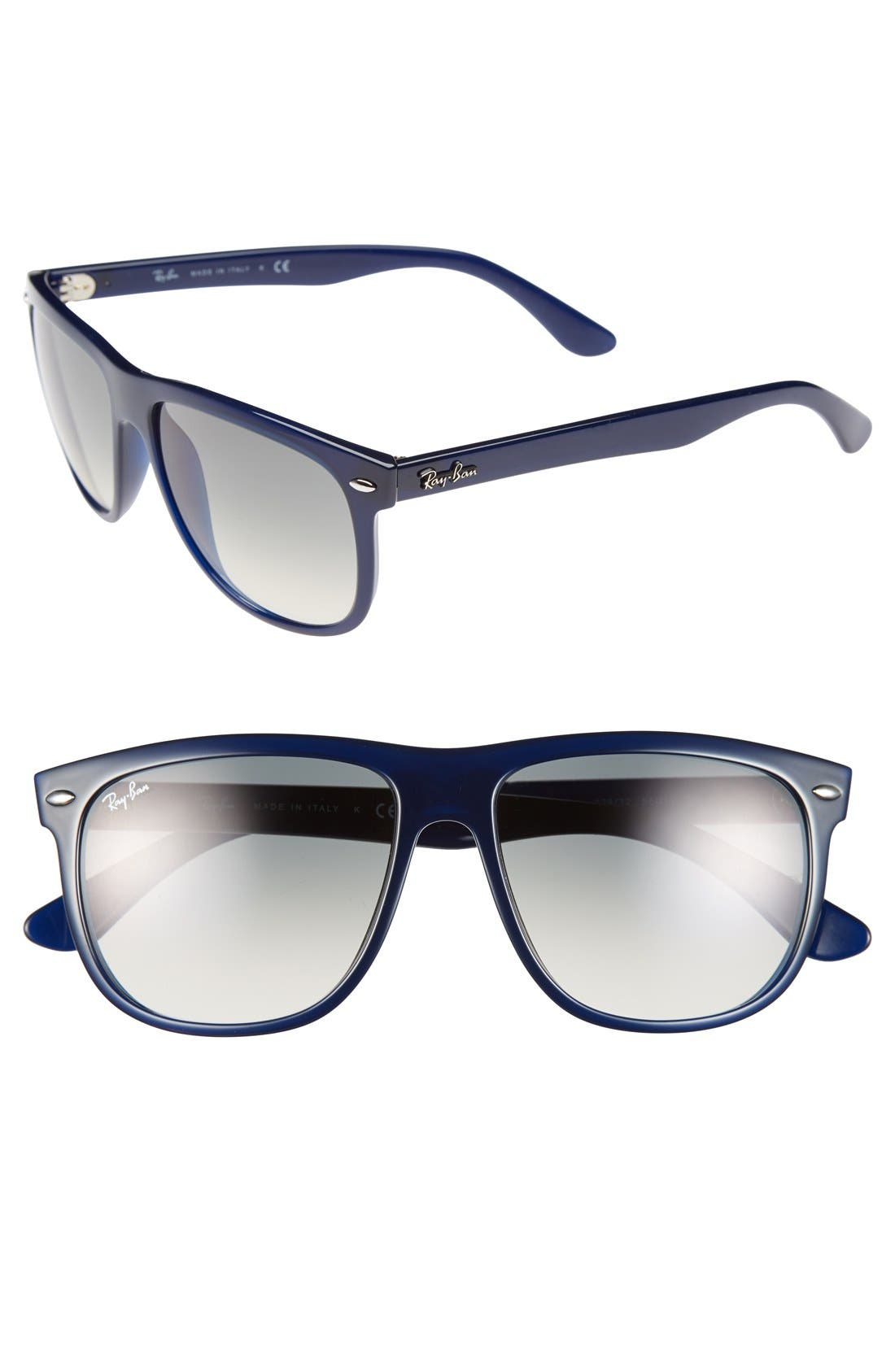 Alternate Image 1 Selected - Ray-Ban 'Boyfriend Flat Top Frame' 56mm Sunglasses