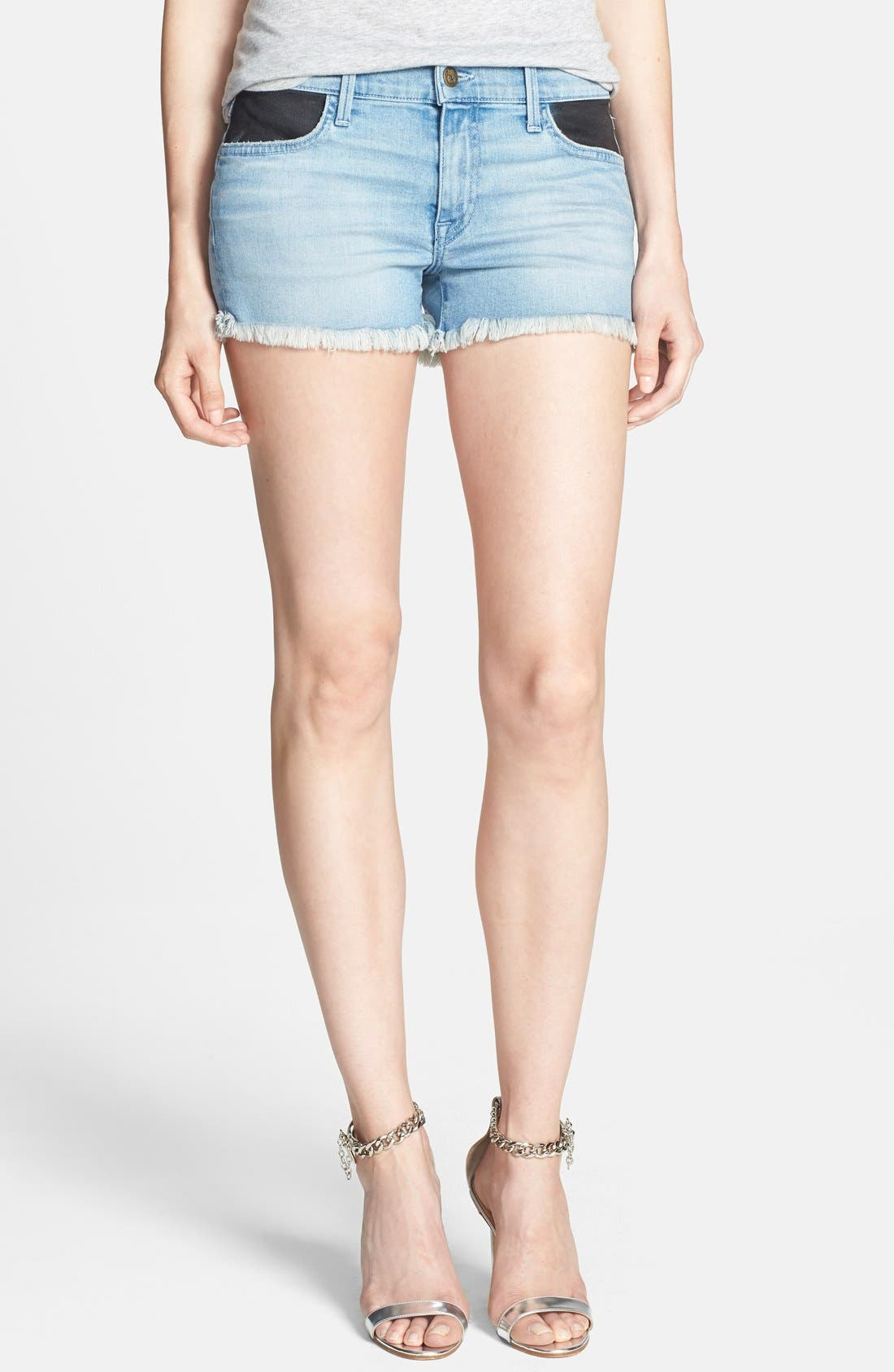 Alternate Image 1 Selected - Wildfox 'Ruby' Contrast Pocket Cutoff Shorts (Soulmates)