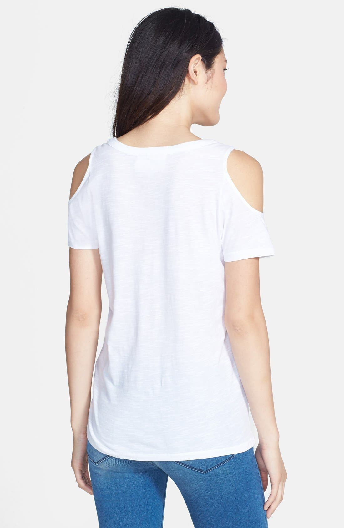 Alternate Image 2  - Two by Vince Camuto Cold Shoulder Top
