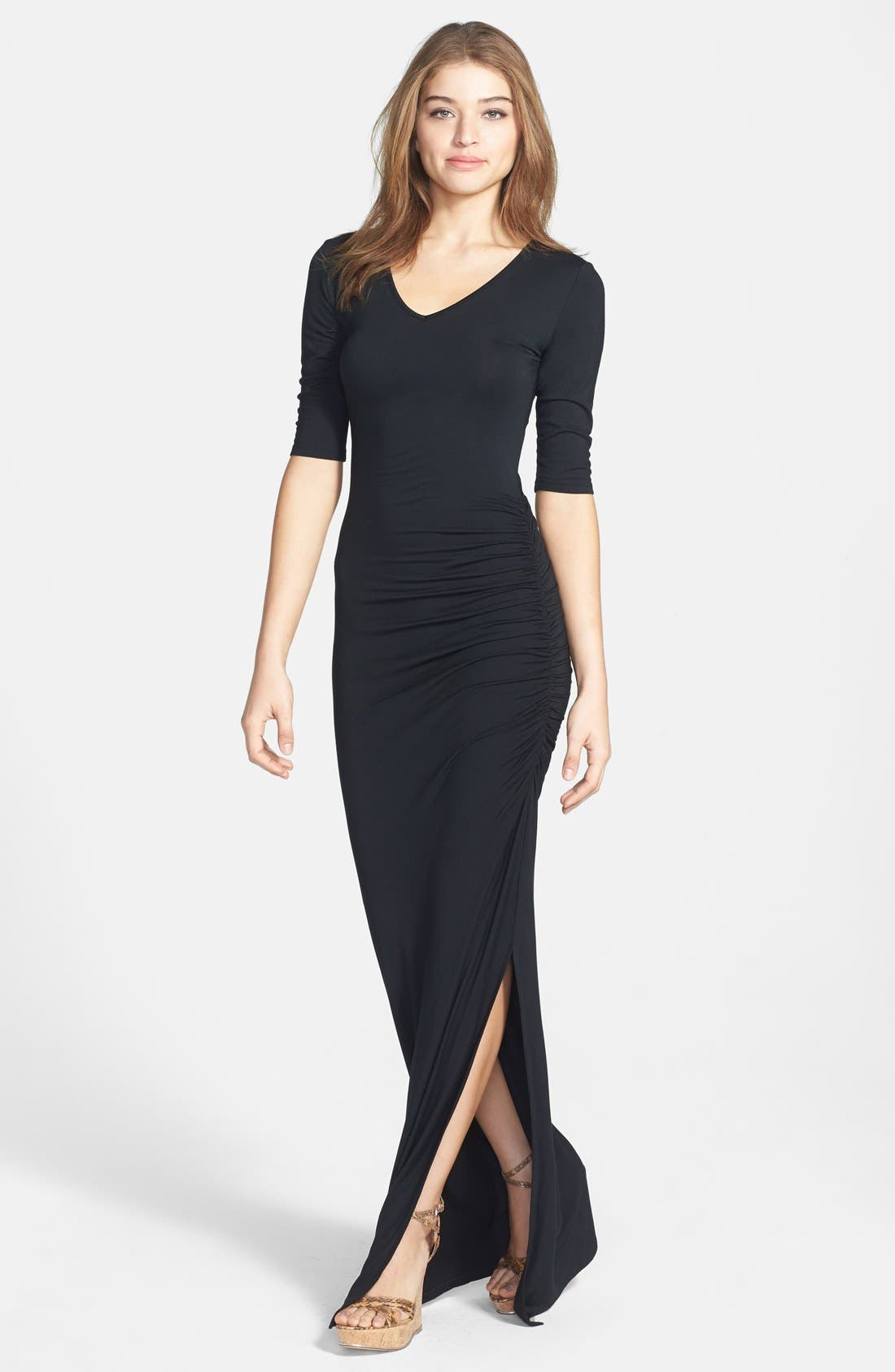 Main Image - Felicity & Coco Shirred Jersey Maxi Dress (Nordstrom Exclusive)