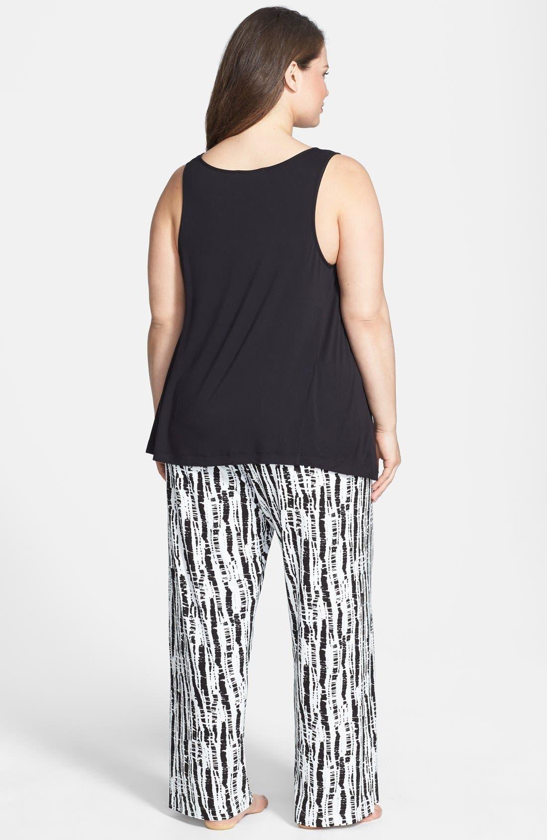 Alternate Image 2  - Oscar de la Renta 'Bamboo Impressions Print' Pajamas (Plus Size)