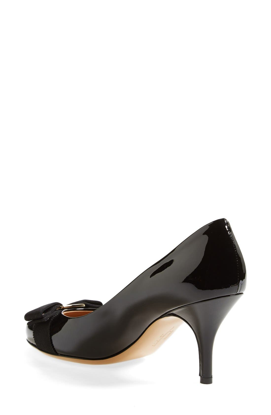 Alternate Image 2  - Salvatore Ferragamo 'Carla' Patent Leather Pump (Women)