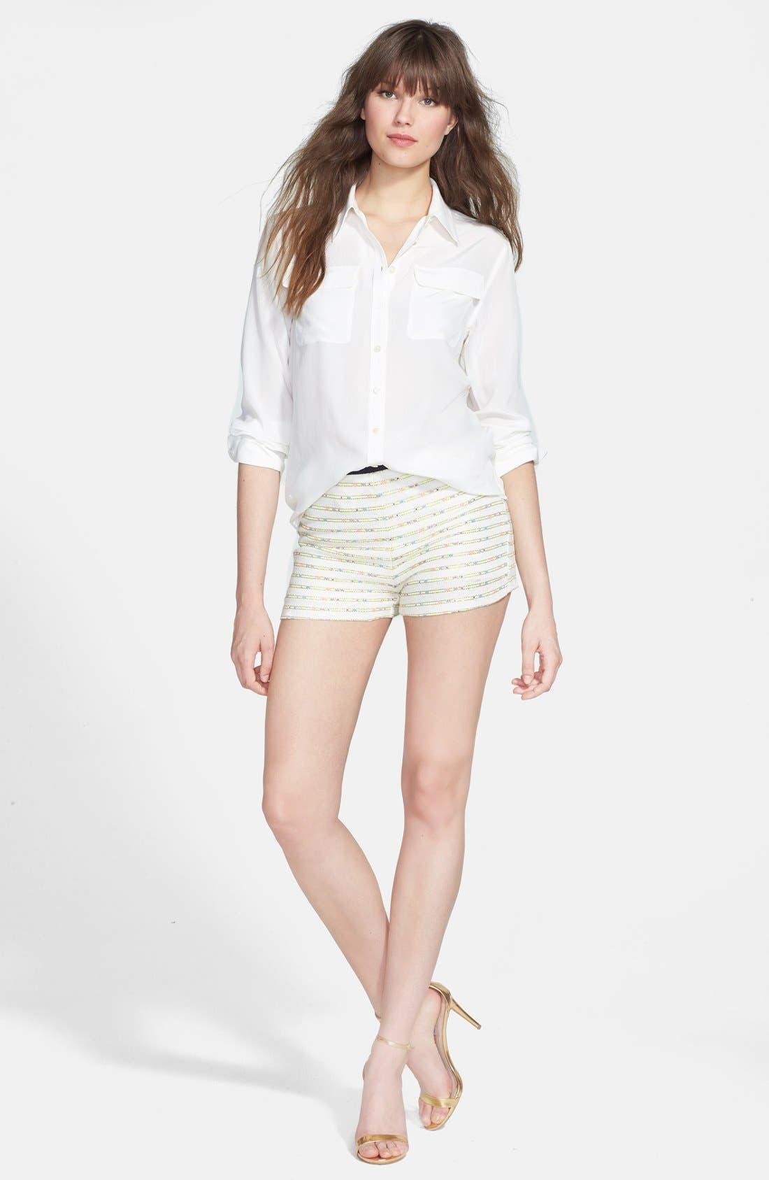 Alternate Image 4  - Nikki Rich 'Coronado Ivory' Jacquard Shorts