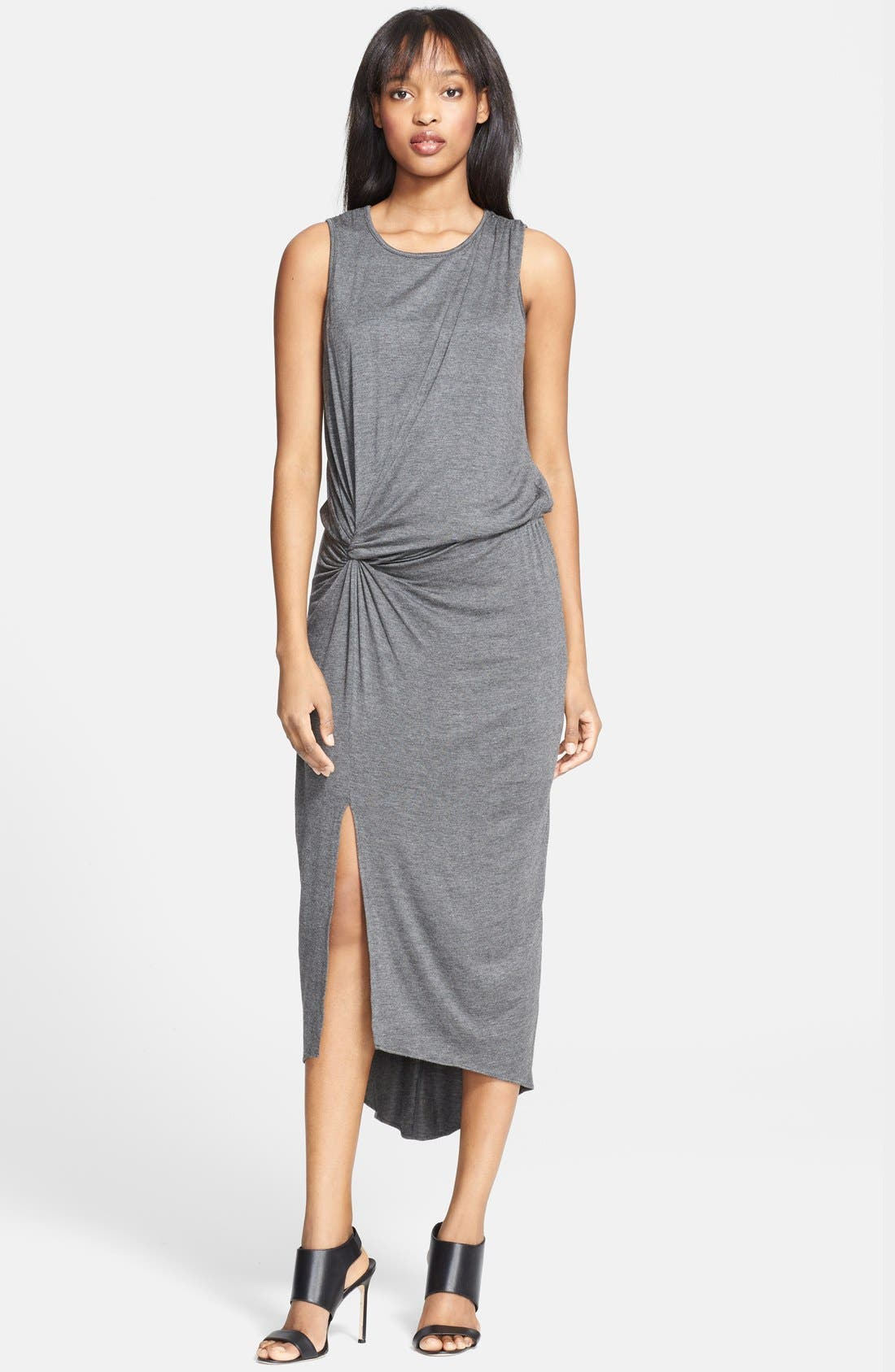 Main Image - Elizabeth and James 'Marine' Side Knot Midi Jersey Dress
