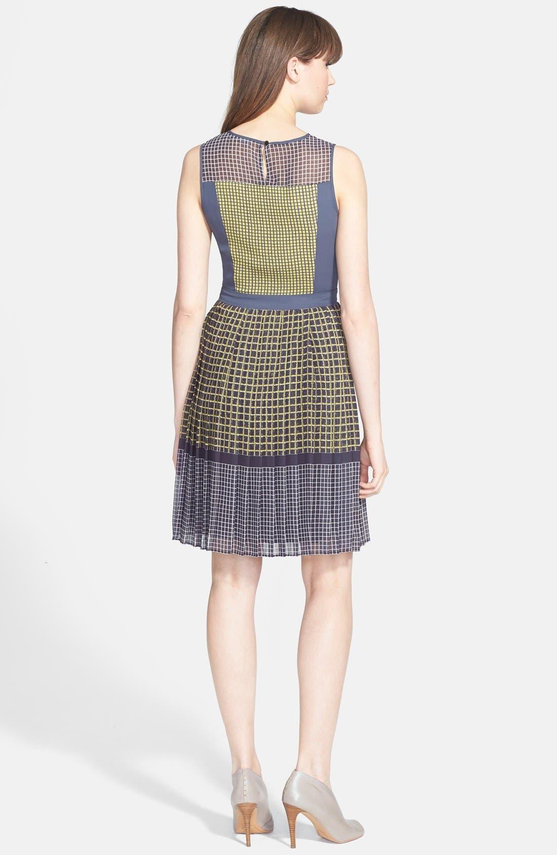 Alternate Image 2  - Halogen® Print Fit & Flare Dress (Regular & Petite)