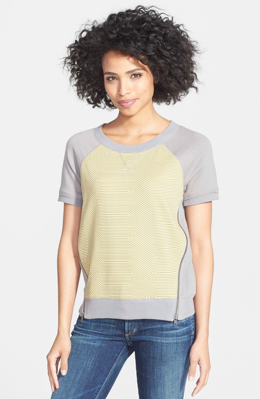 Alternate Image 1 Selected - Halogen® Print Front Sweatshirt (Regular & Petite)