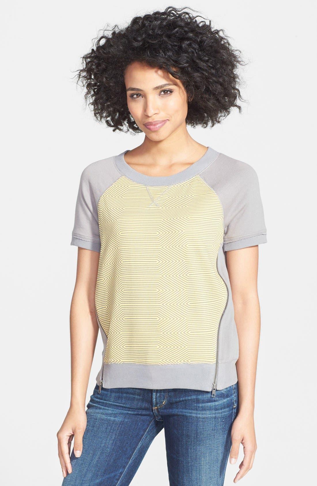 Main Image - Halogen® Print Front Sweatshirt (Regular & Petite)