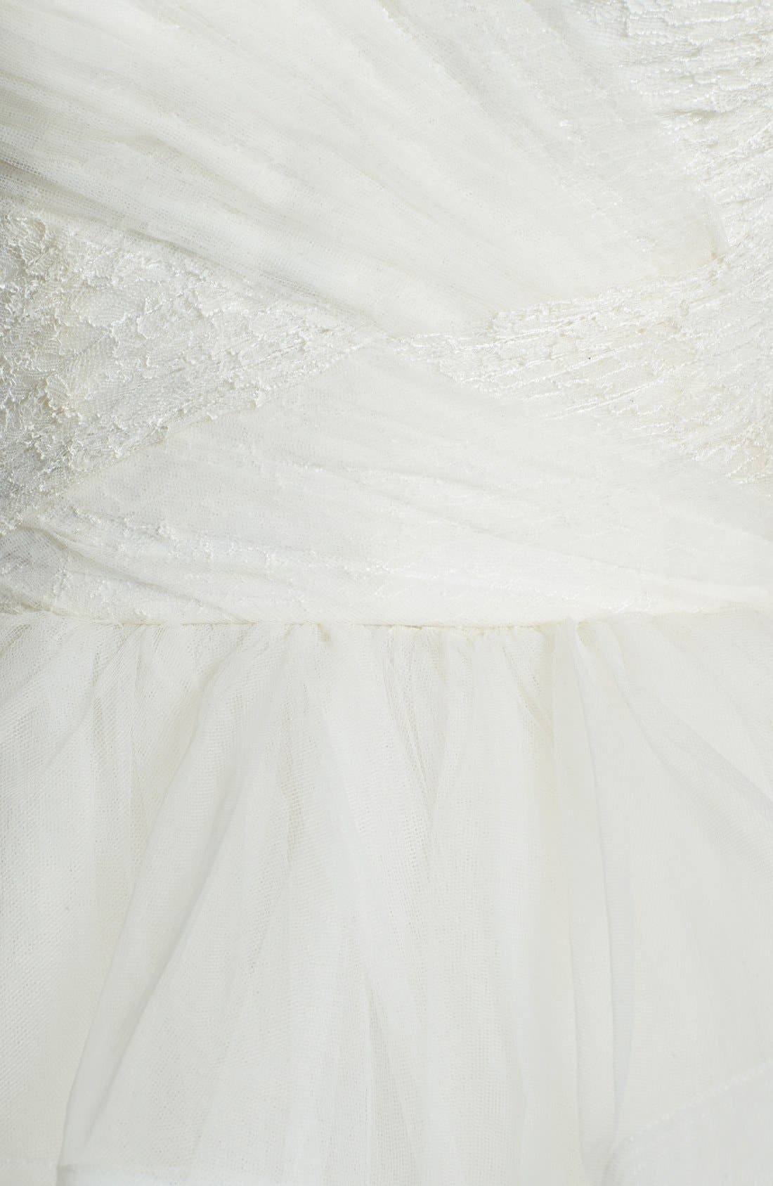 Alternate Image 3  - Reem Acra 'Eliza' Lace Detail Ruffled Tulle Wedding Dress (In Stores Only)