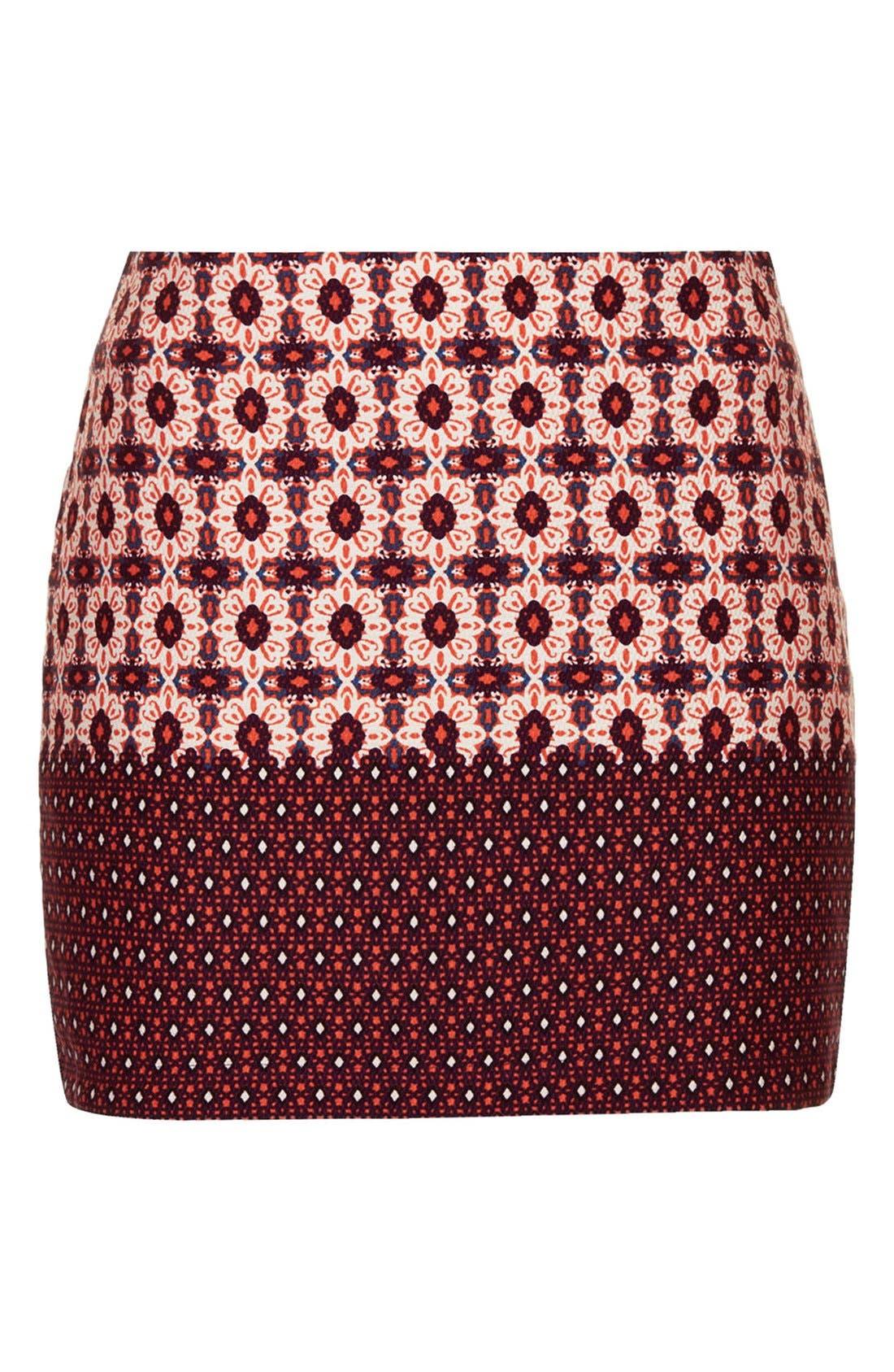 Alternate Image 3  - Topshop Mixed Tile Print Pelmet Skirt