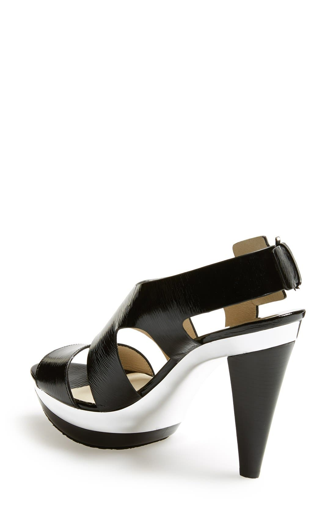 Alternate Image 2  - MICHAEL Michael Kors 'Carla' Saffiano Patent Leather Sandal (Women)
