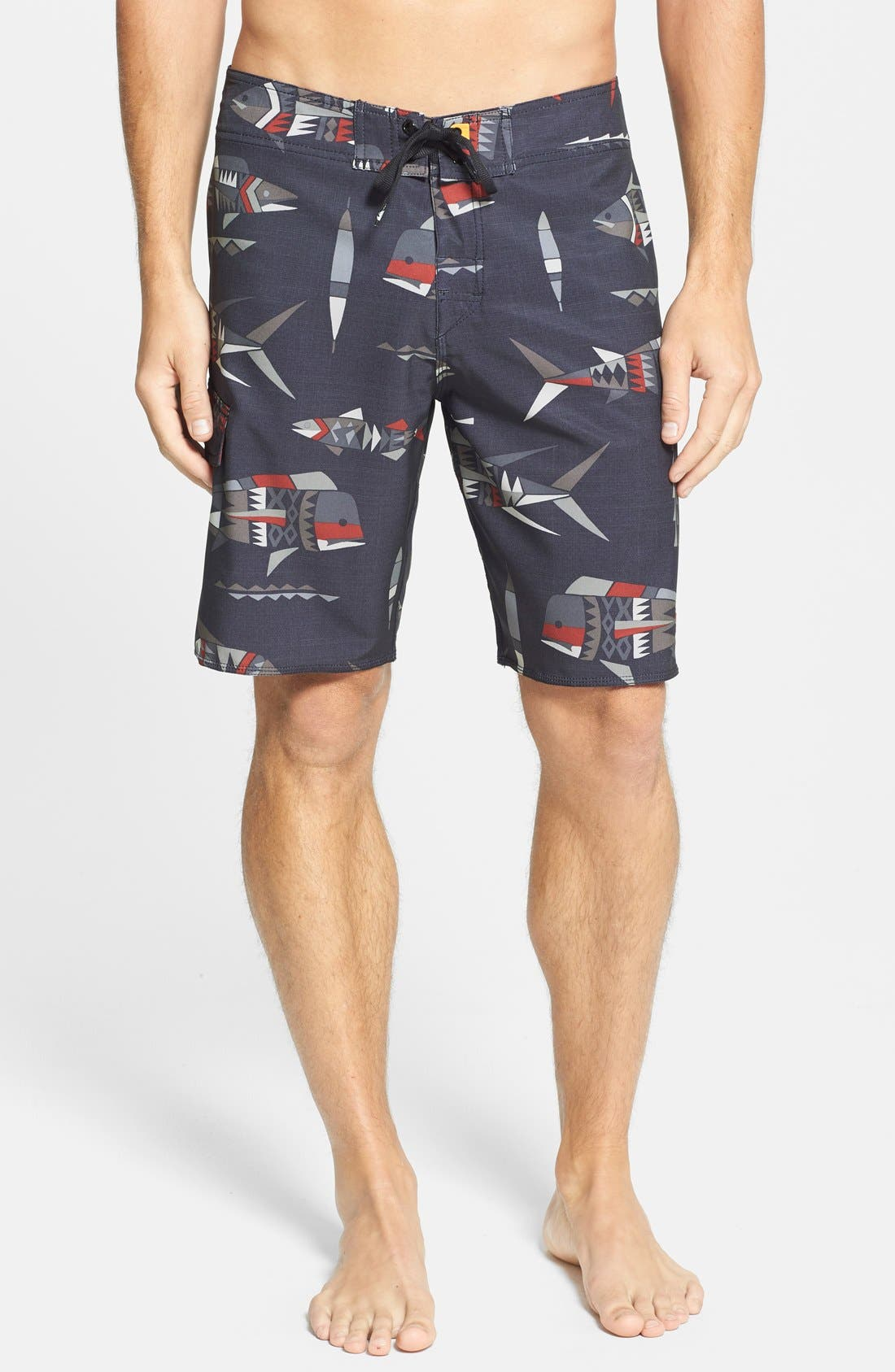 Main Image - Quiksilver Waterman Collection 'Fish Tank' Board Shorts