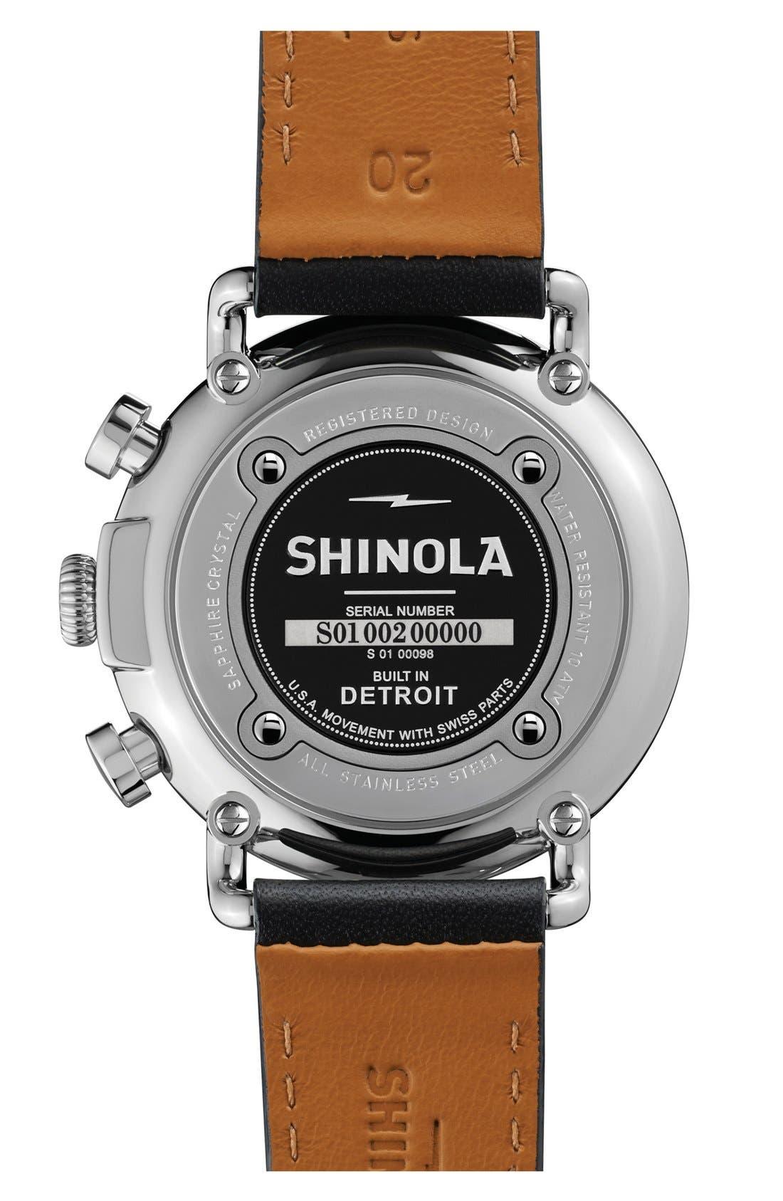 Alternate Image 2  - Shinola 'The Runwell Chrono' Leather Strap Watch, 41mm