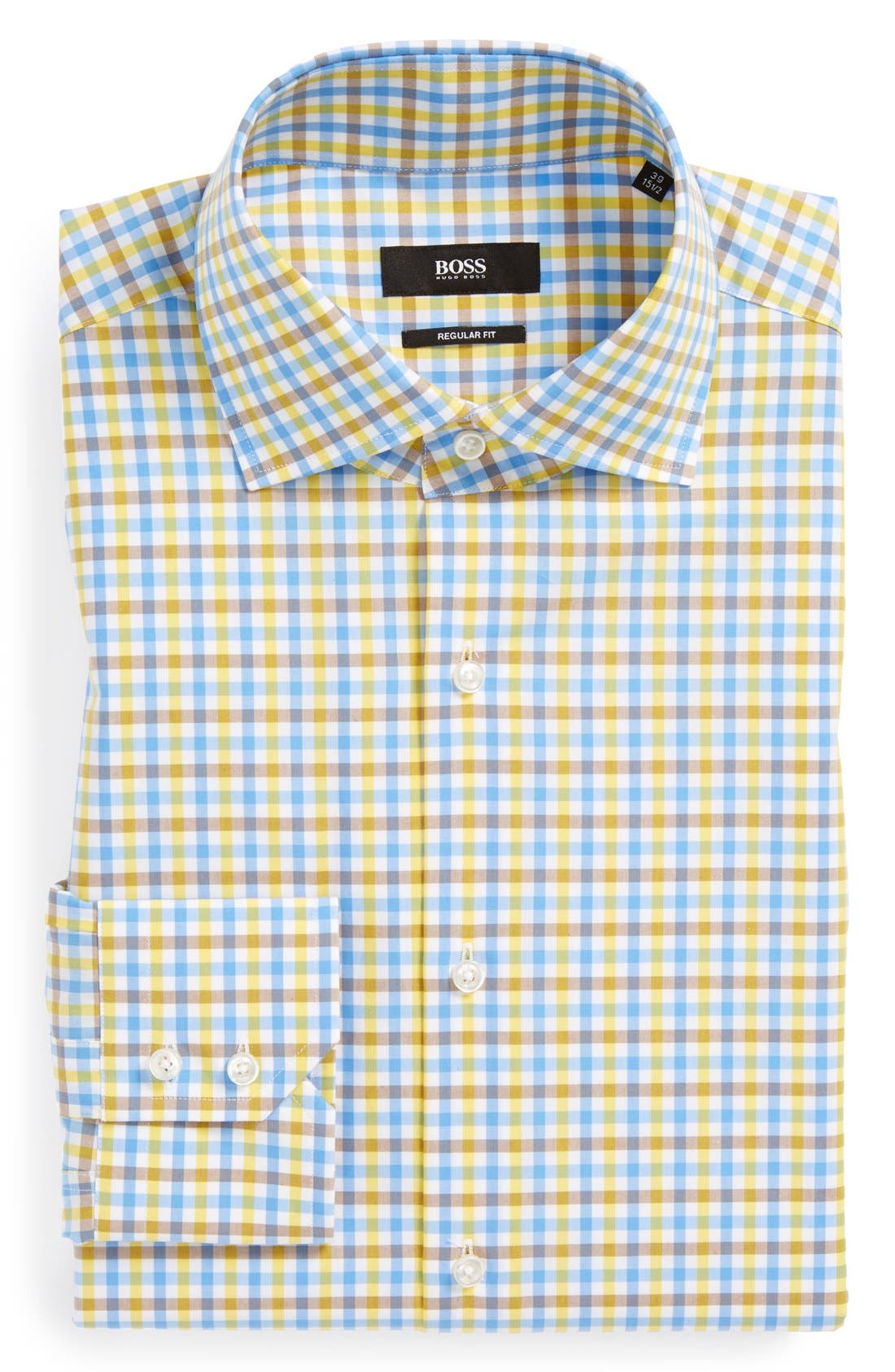 Alternate Image 1 Selected - BOSS HUGO BOSS 'Gerald' WW Regular Fit Check Dress Shirt