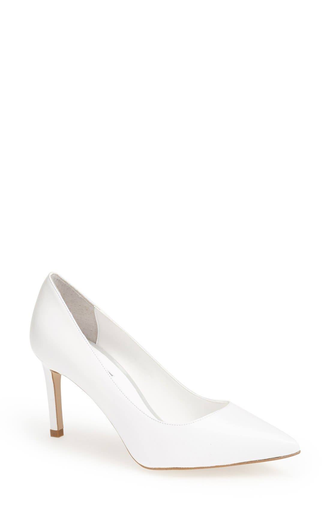 Alternate Image 1 Selected - Topshop 'Golden' Pointy Toe Pump (Women)