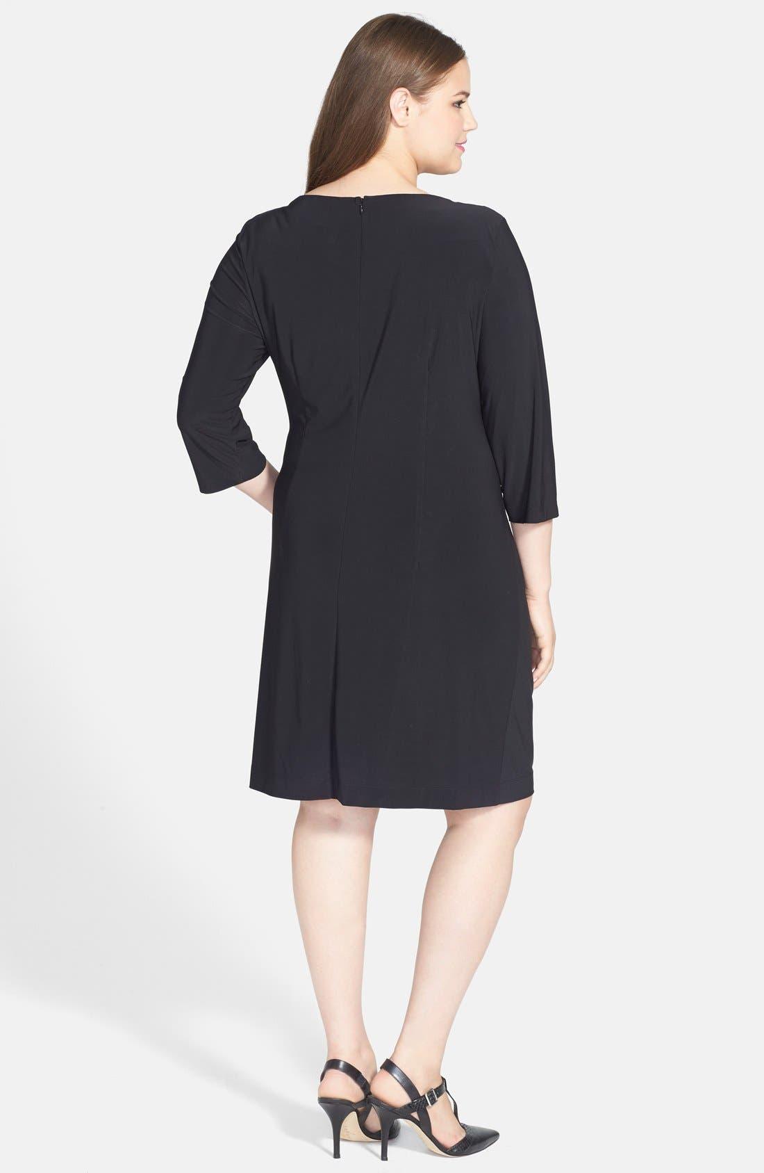 Alternate Image 2  - Taylor Dresses Faux Wrap Dress (Plus Size)