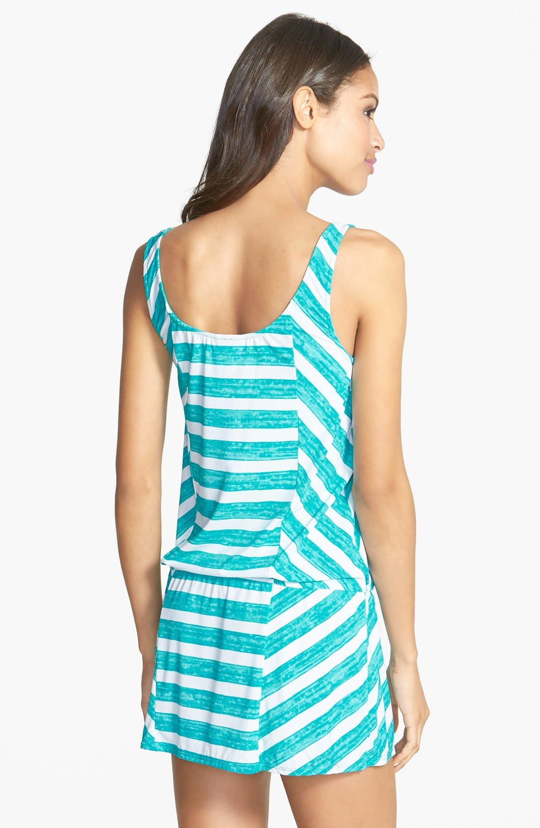 Alternate Image 2  - Coco Rave 'Lucky Girls Wear Stripes' Cover-Up Tank Dress