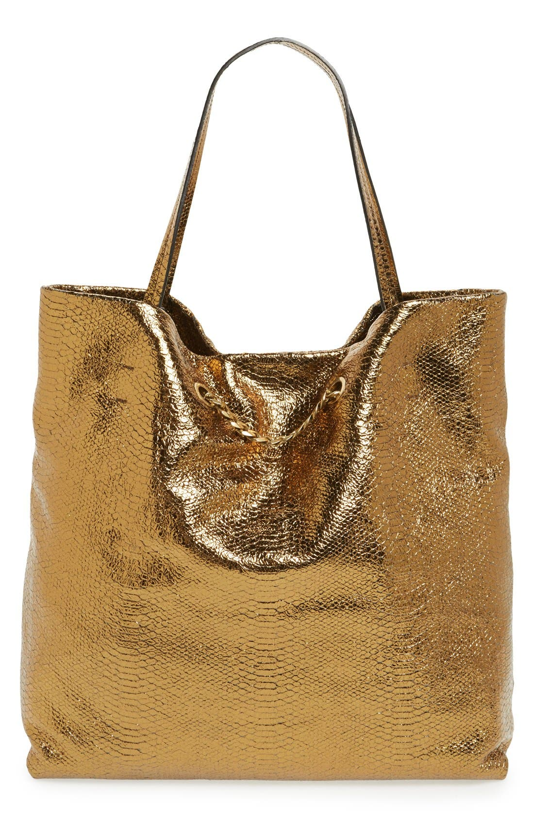 Alternate Image 4  - Lanvin 'Medium Carry Me' Snake Embossed Metallic Leather Tote