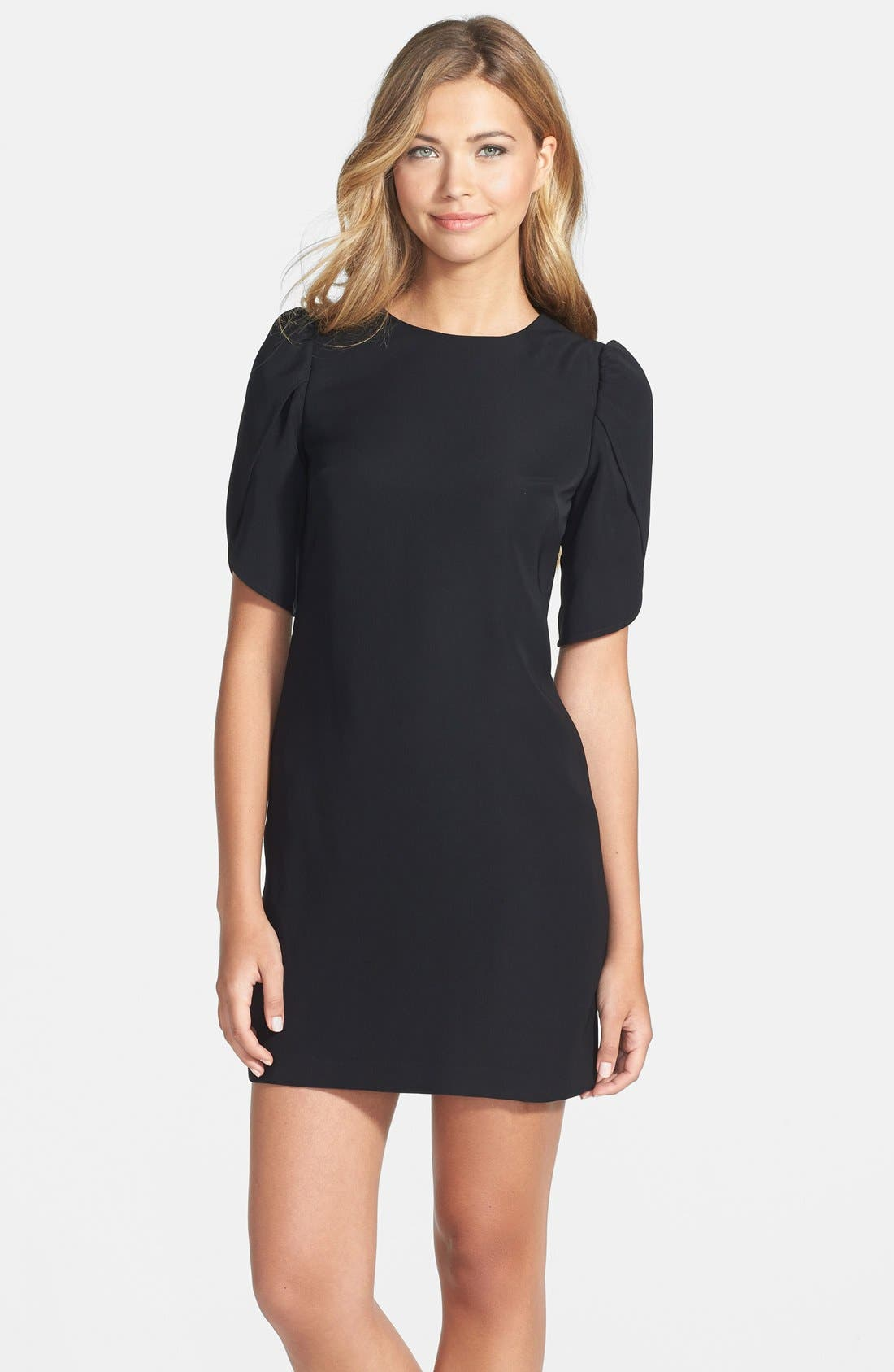 Alternate Image 1 Selected - Cynthia Steffe Tulip Sleeve Crepe Shift Dress