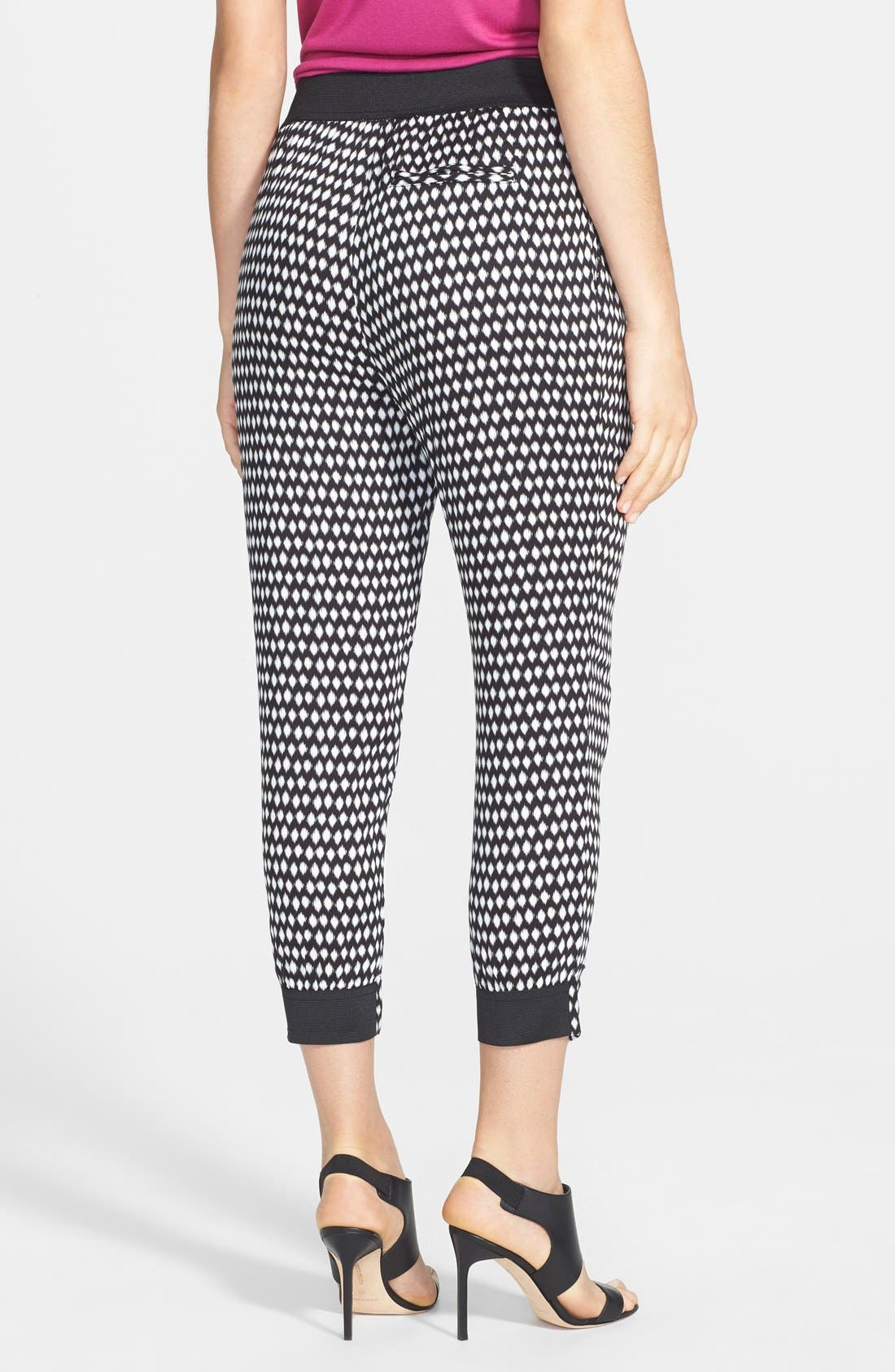 Alternate Image 2  - Search for Sanity Print Crop Pants