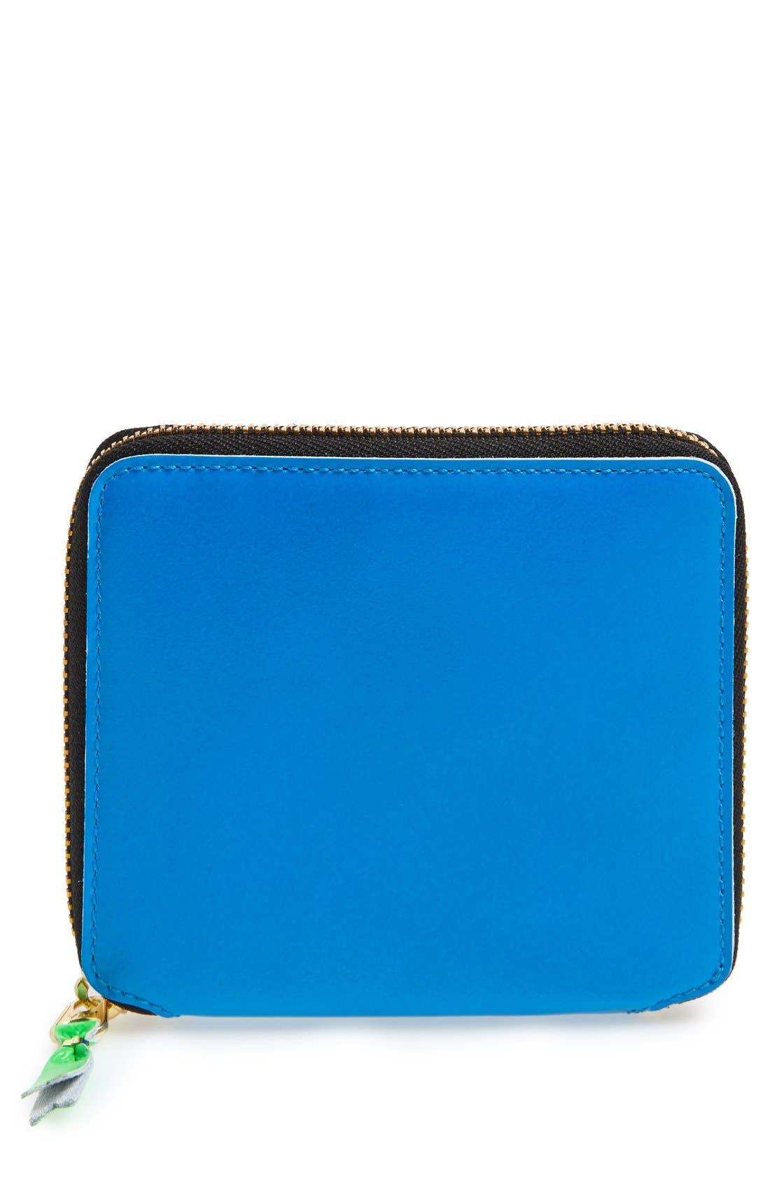 Alternate Image 1 Selected - Comme des Garçons 'Super Fluo' French Wallet