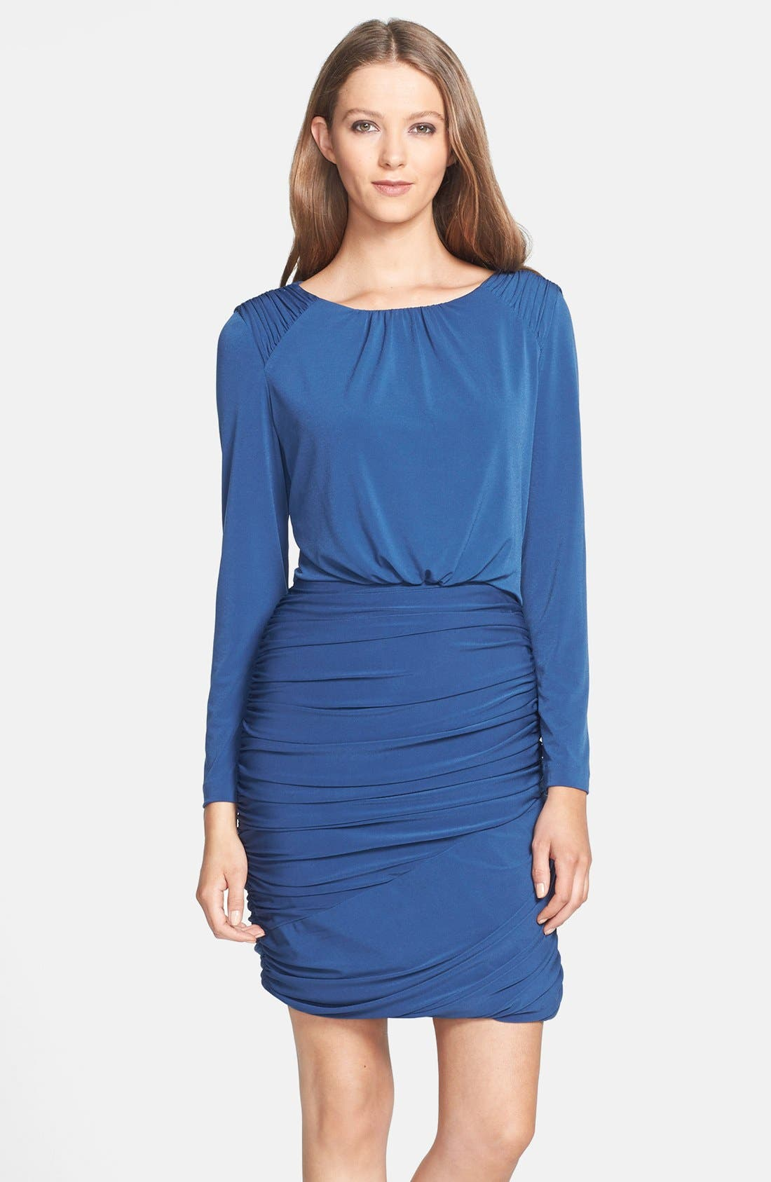 Main Image - Ivy & Blu Ruched Jersey Blouson Dress