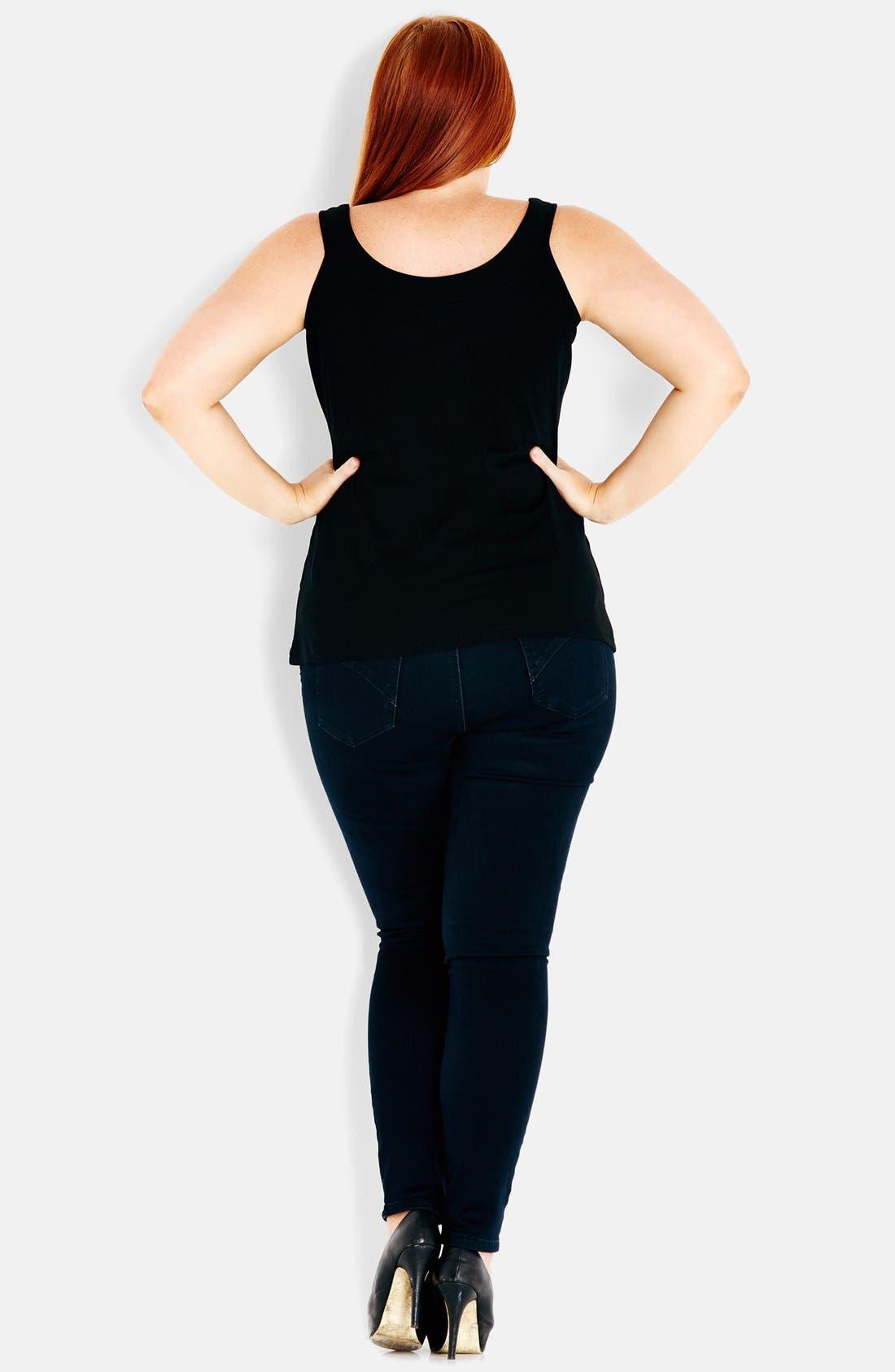 Alternate Image 2  - City Chic 'Ballerina' Camisole (Plus Size)