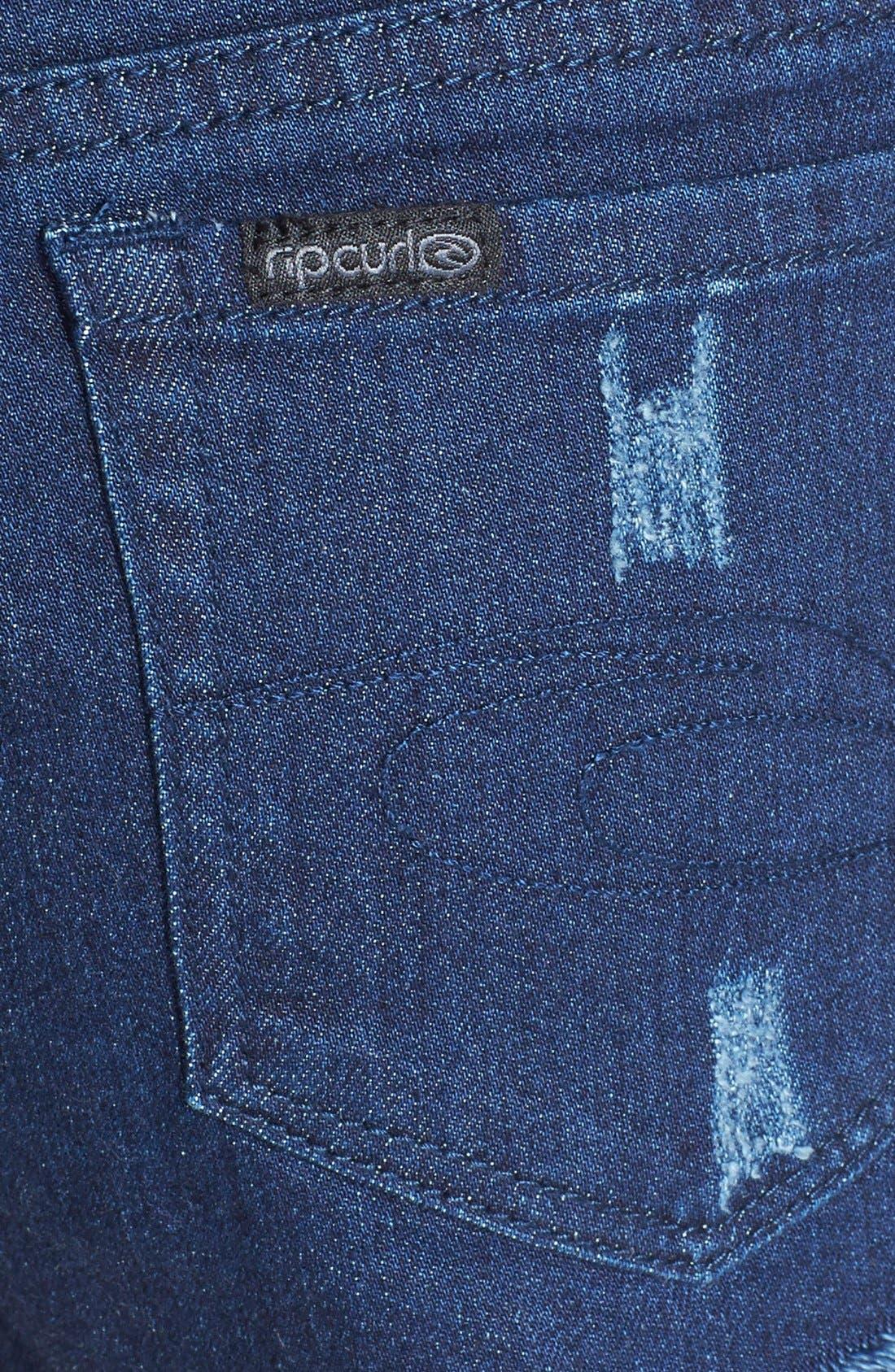 Alternate Image 3  - Rip Curl 'Cheeky' Denim Shorts (Juniors)