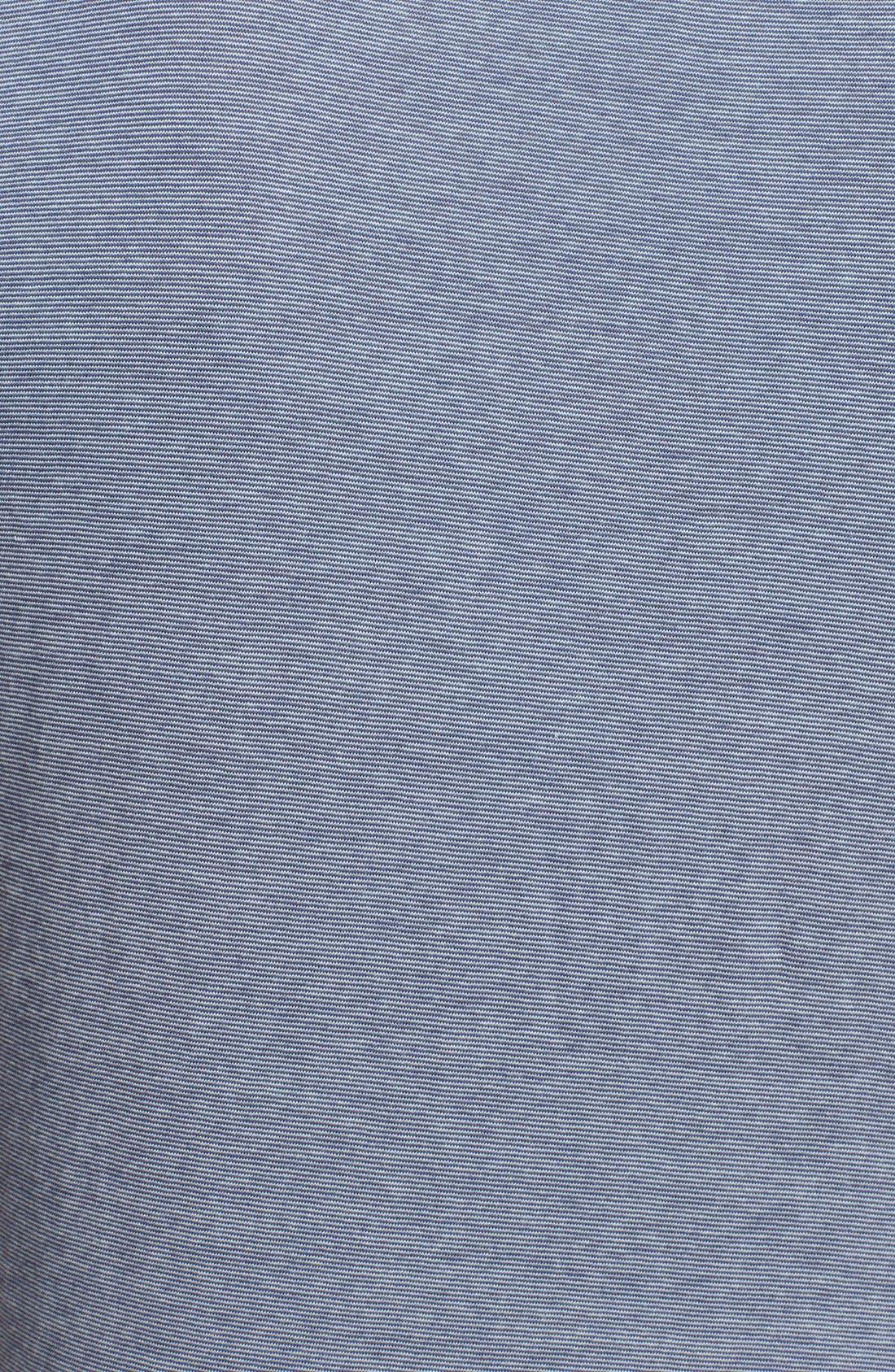 Alternate Image 5  - Billy Reid 'Pensacola' Mini Stripe Slim Fit Jersey Polo