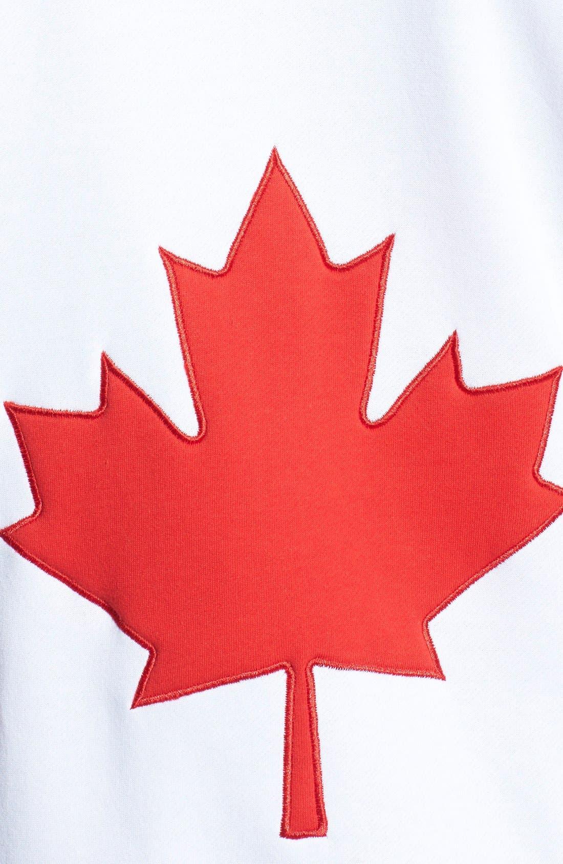 Alternate Image 3  - ZOOOP iT UP™ Canada Flag Zip Hoodie Jumpsuit